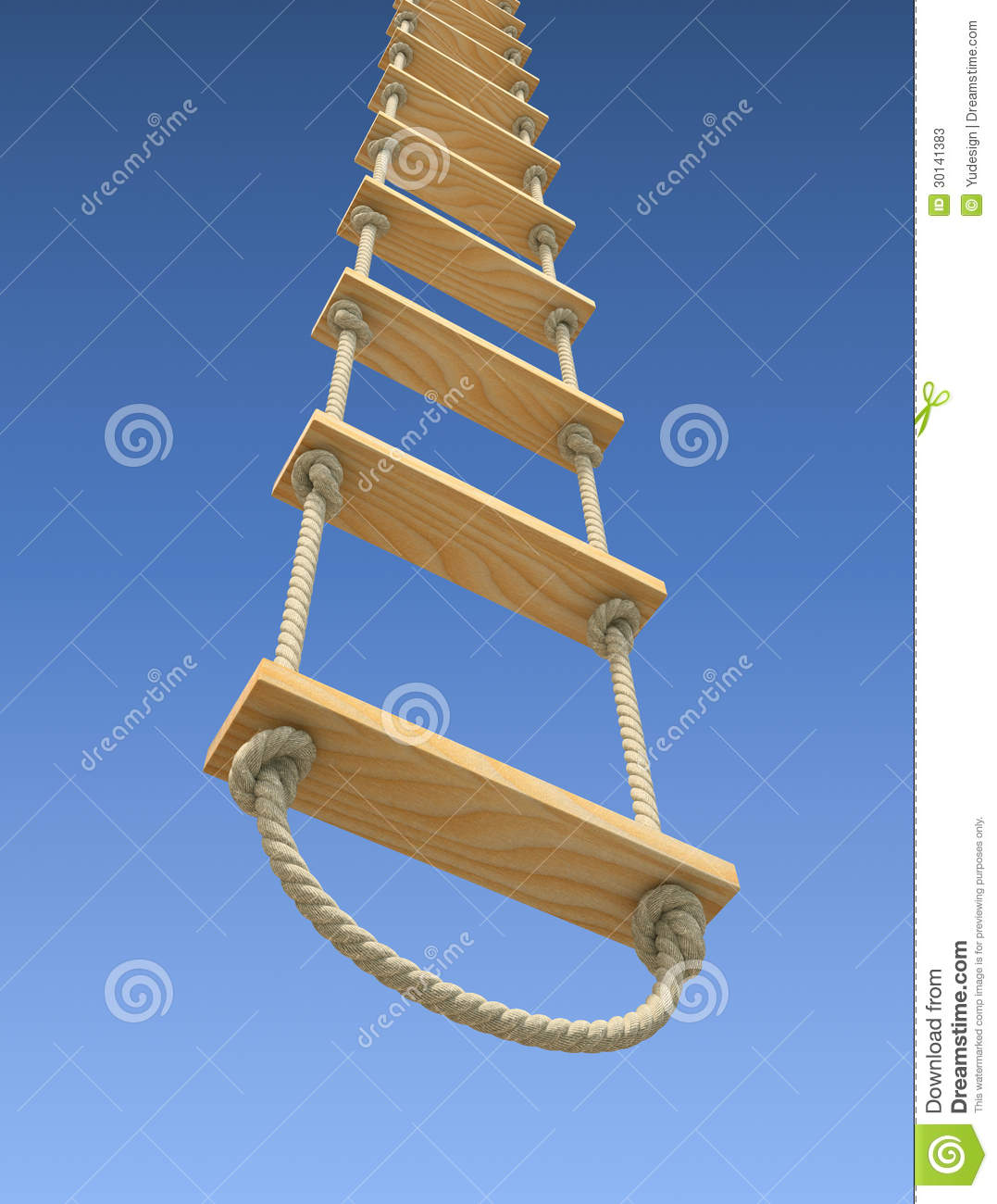 rope ladder on a g...