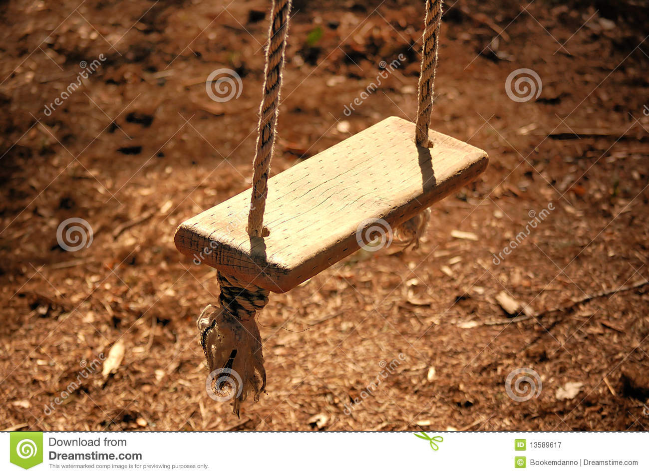 Wooden Rope Swing Stock Image Image Of Chair Hang Alone 13589617