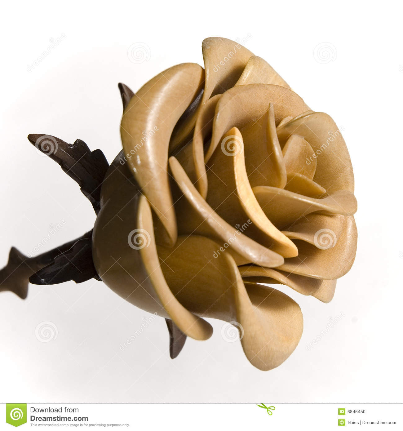 Wooden Rose Stock Photo Image 6846450