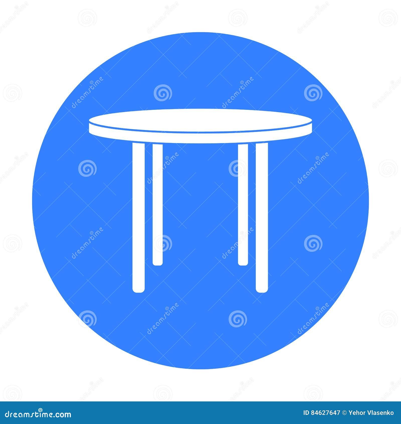 Wooden Round Table Isolated Illustration Cartoon Vector