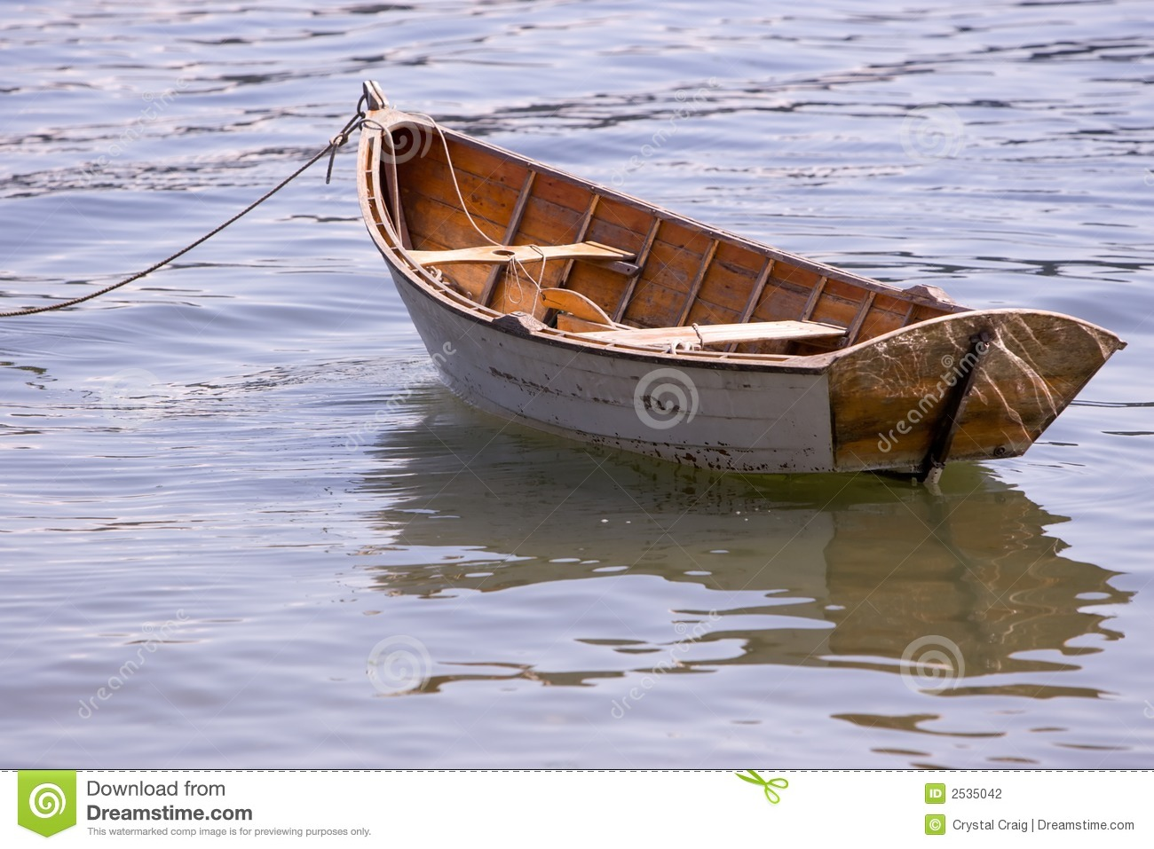 Wooden Row Boat Stock Photo Image Of Floating Antique