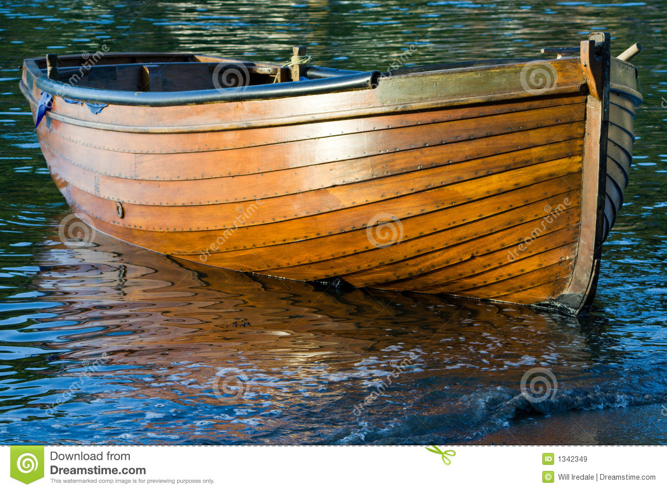 Wooden Rowing Boat Stock Image Of Clinker