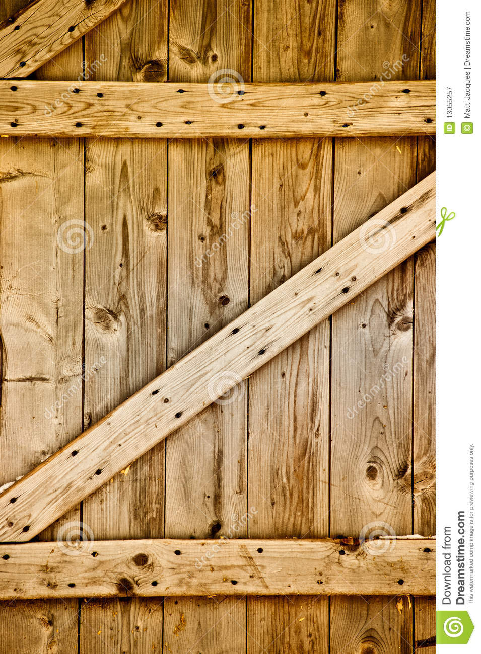 Wooden Rustic Barn Door Detail. Royalty Free Stock Photography - Image ...