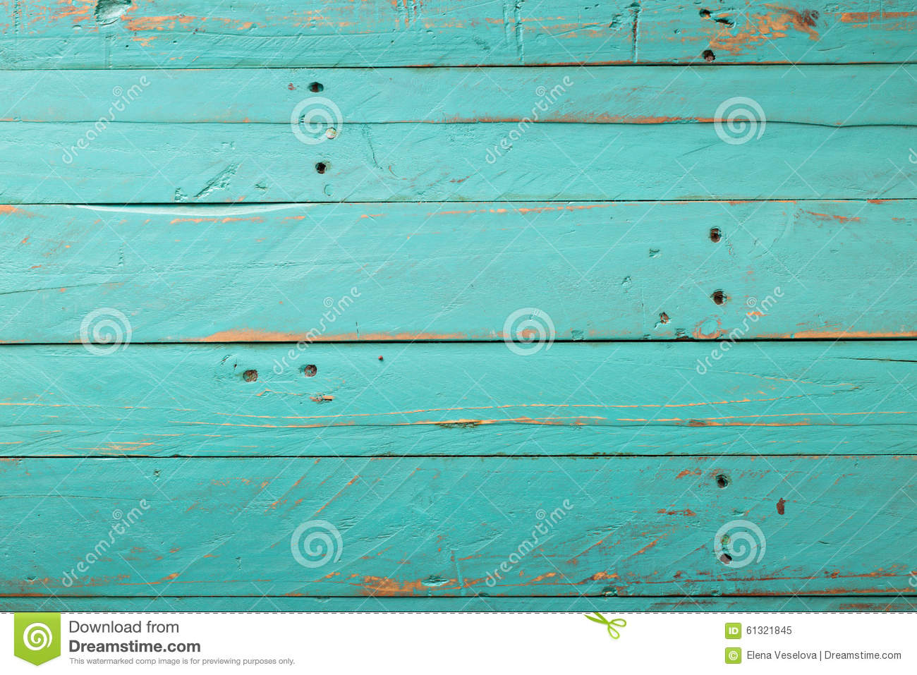 Wooden Rustic Turquoise Background Stock Image