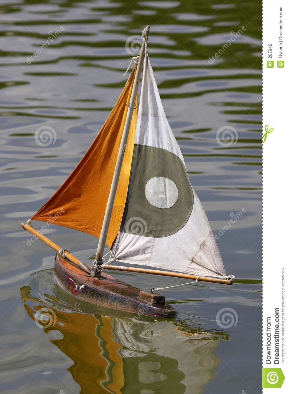 wooden sailing boats in jardin des tuileries paris france stock