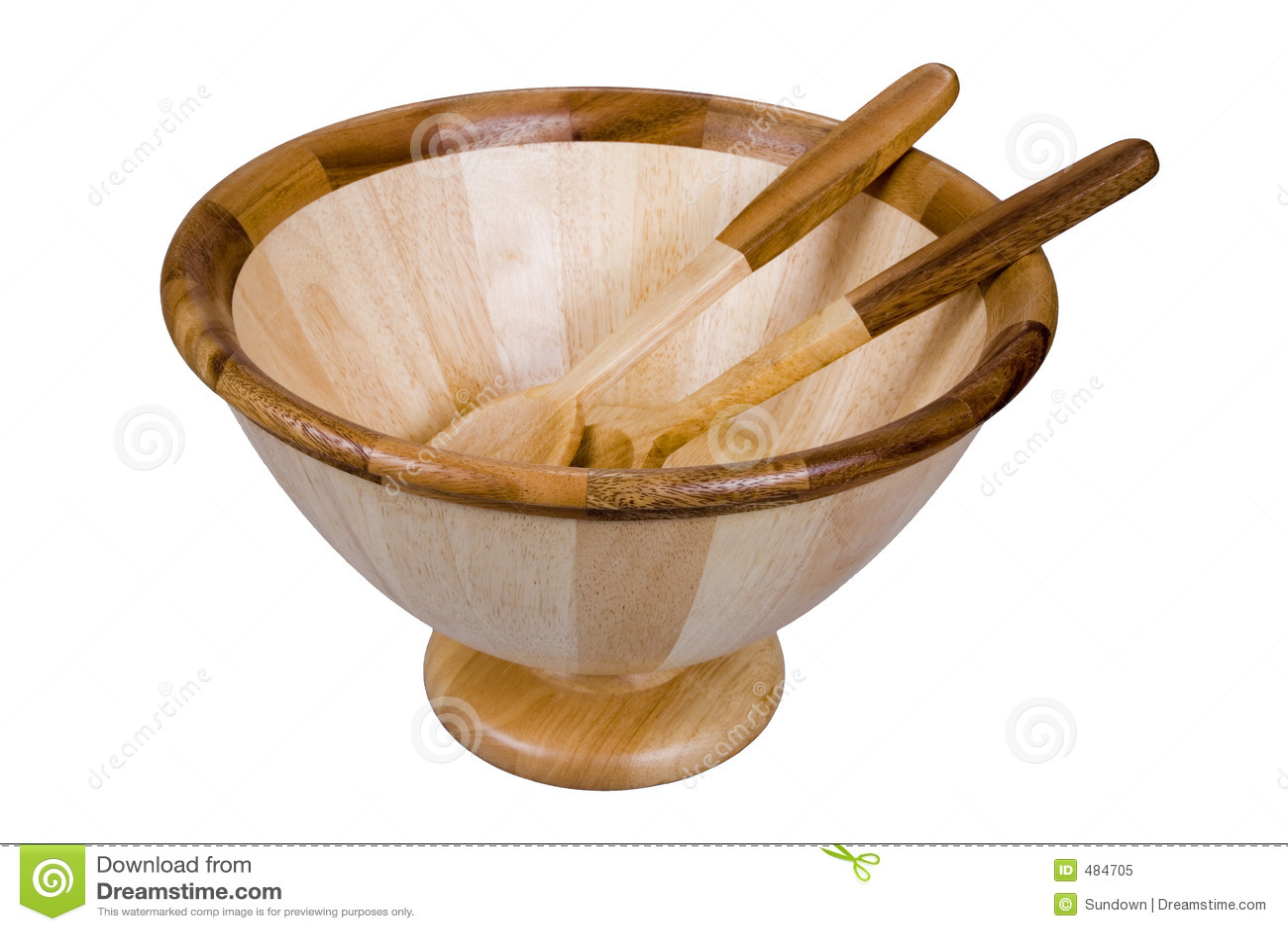 bowl salad set utensils wooden