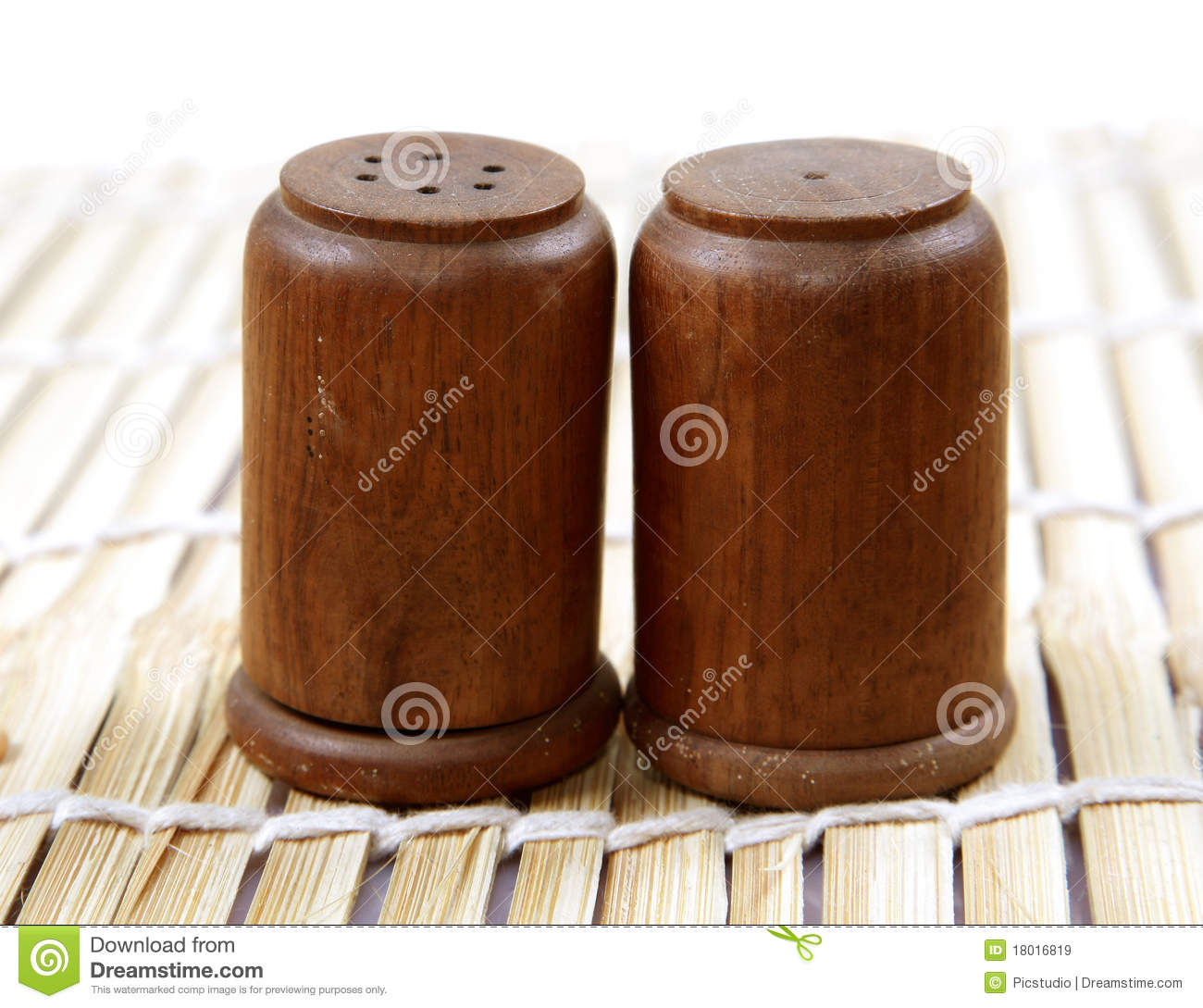 Wooden Salt And Pepper Containers Royalty Free Stock