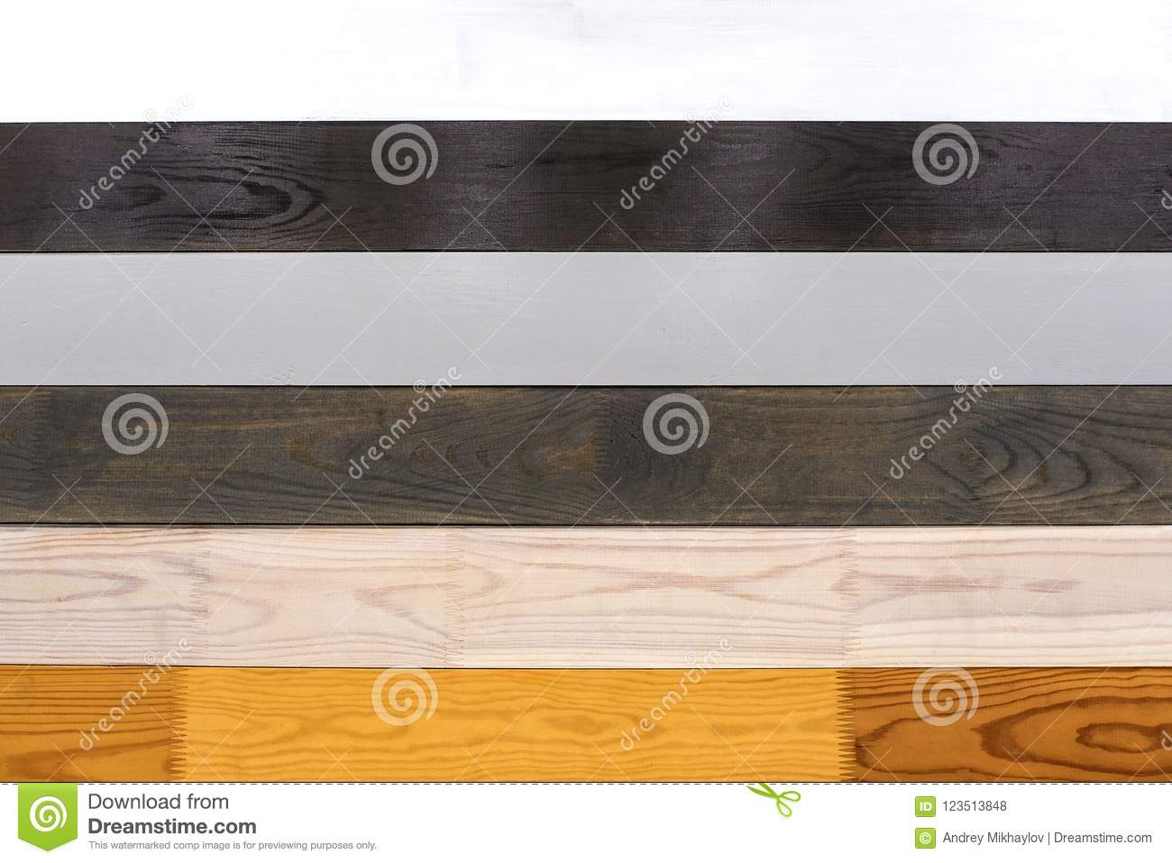 Wooden Samples Of Different Types Of Material Stock Photo Image