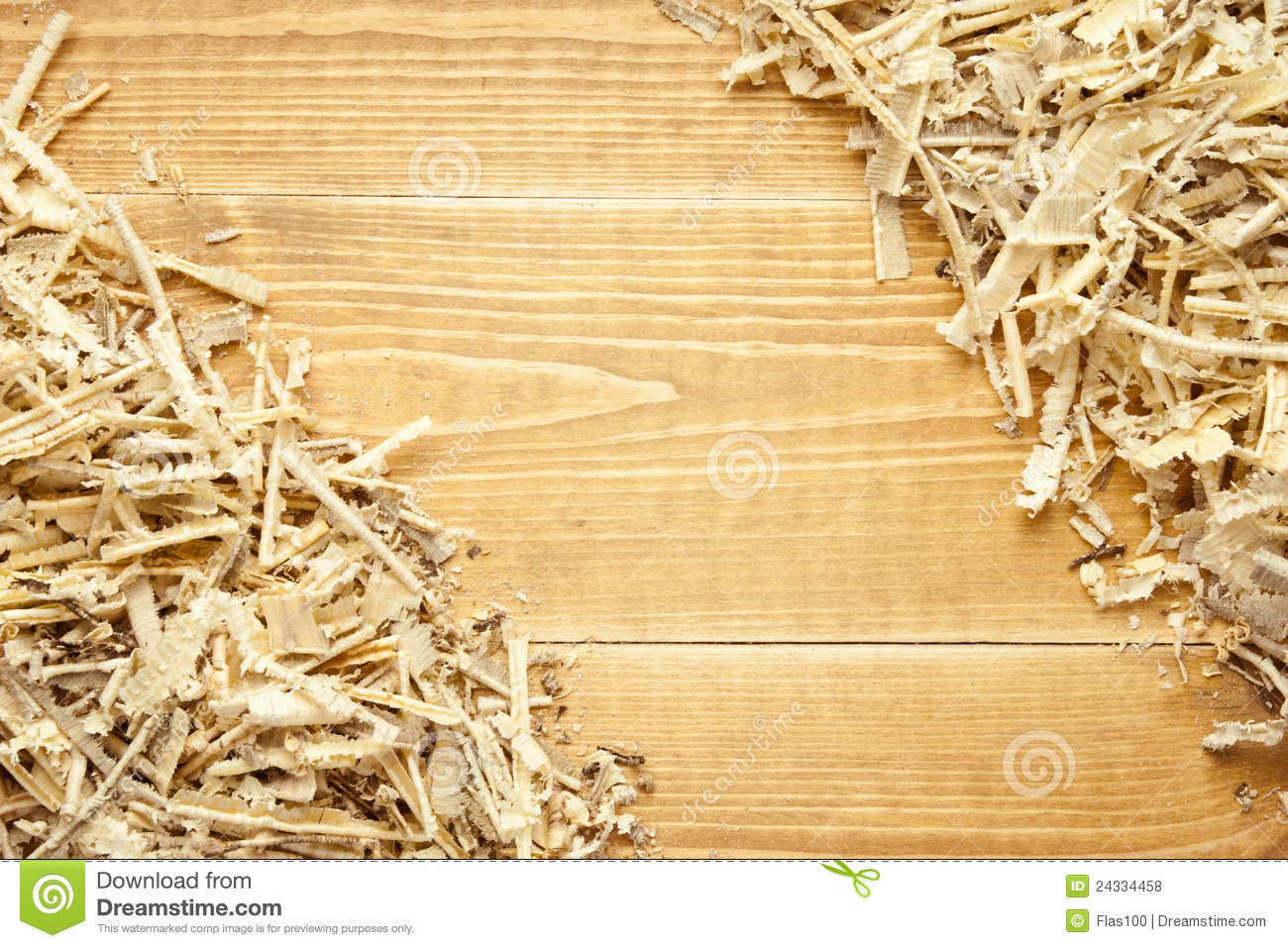 Wooden Sawdust And Shavings Background Royalty Free Stock