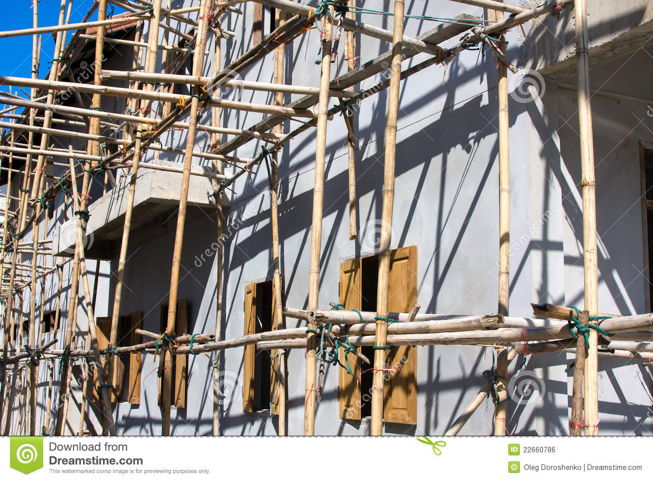 Wooden Scaffolding Royalty Free Stock Image Image 22660786