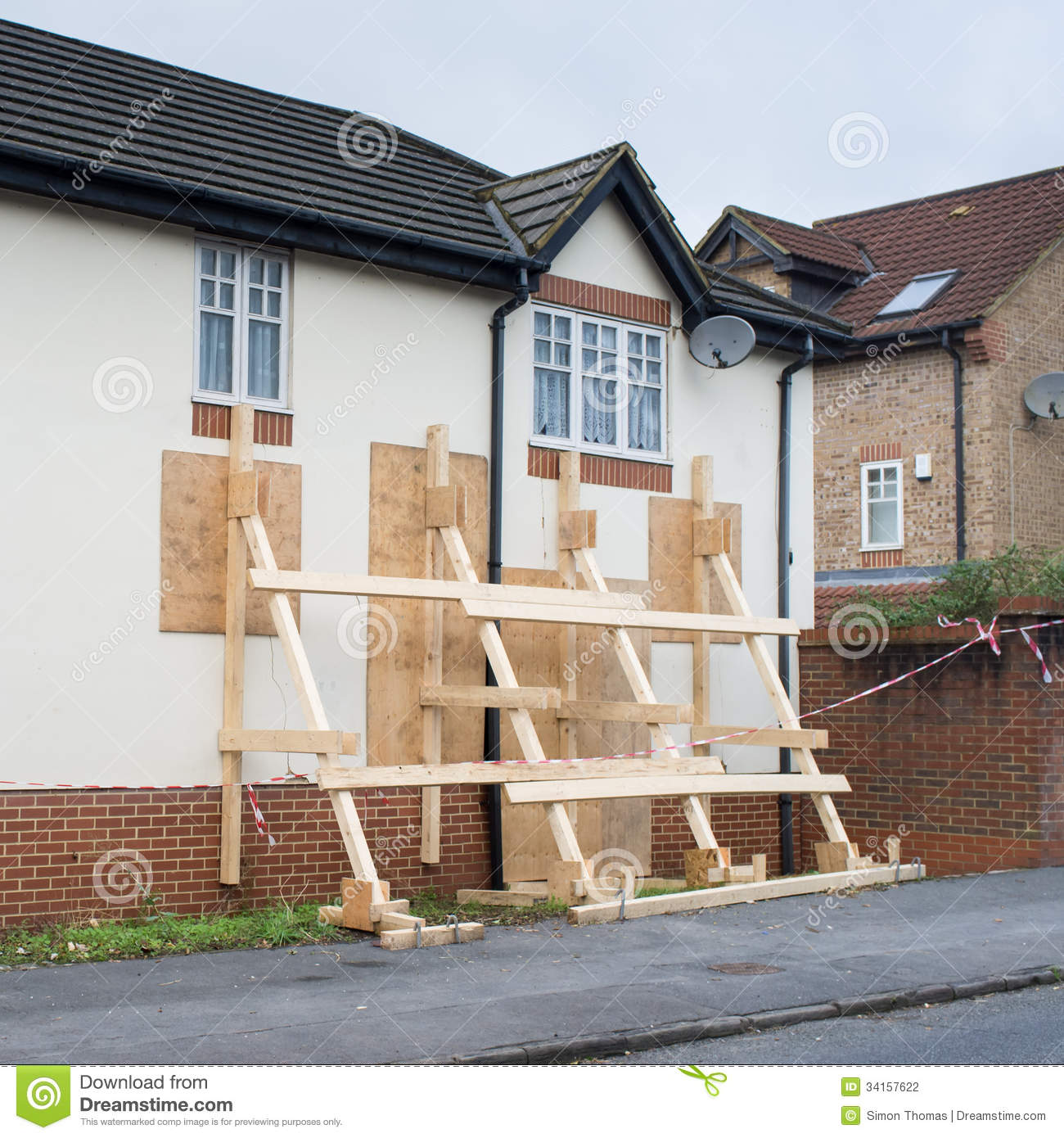 Wooden Scaffolding Stock Photography Image 34157622