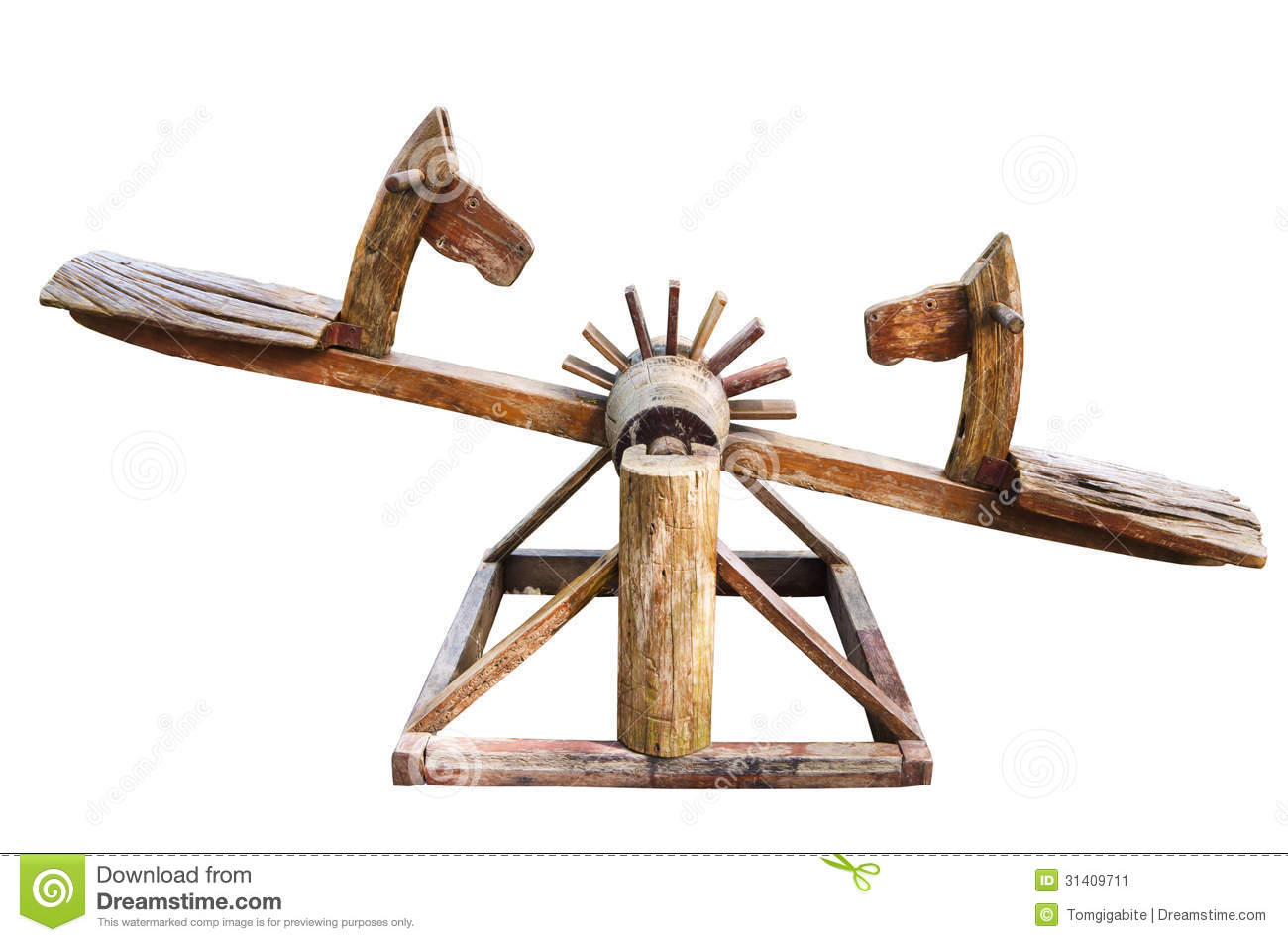 Wooden Seesaw Stock Image - Image: 31409711