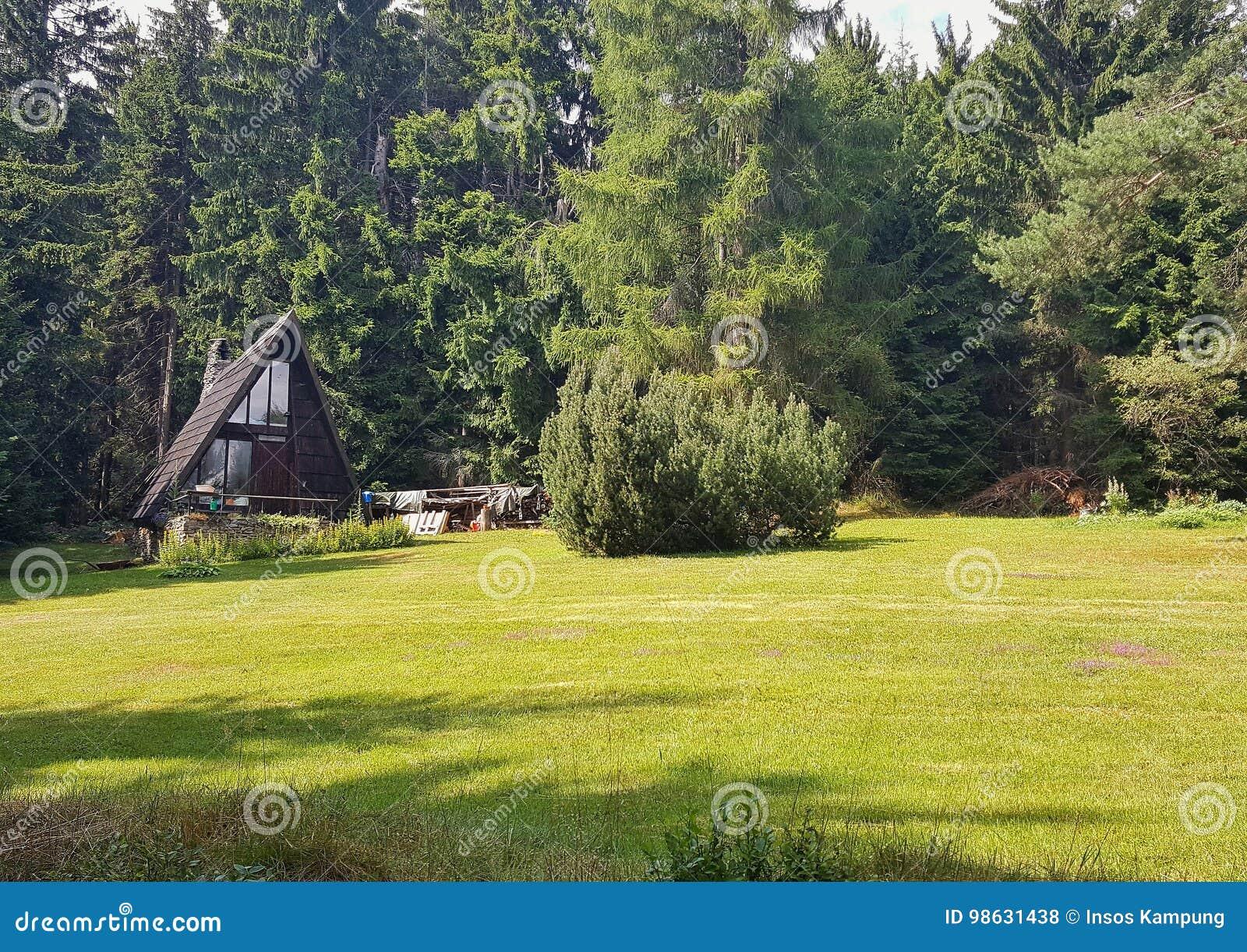 Wooden Shack in Czech Forest