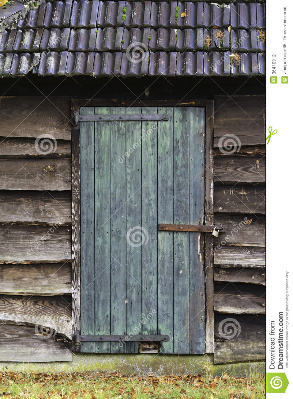 Wooden Shed Door Stock Photography Image 36410912
