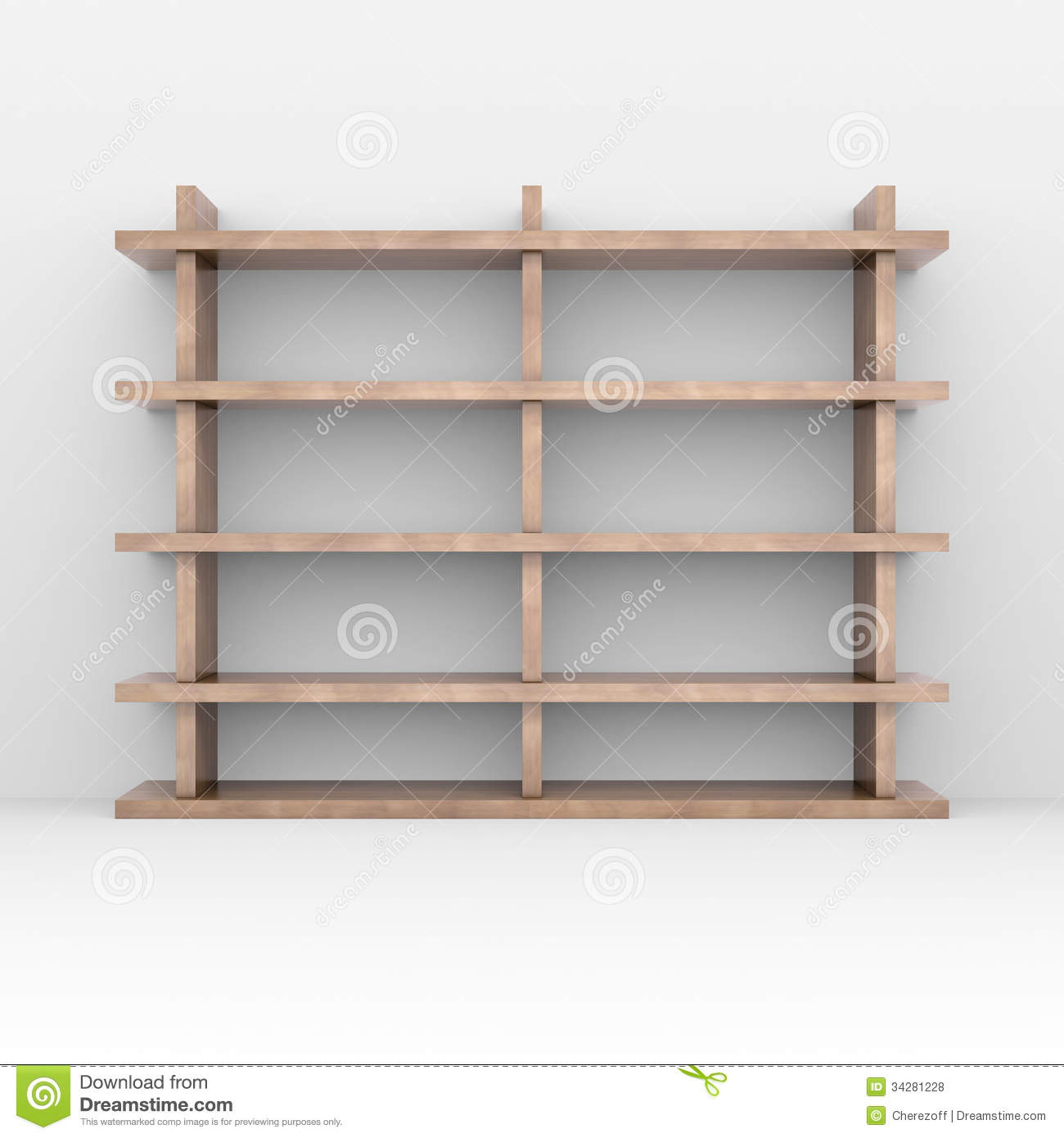Wooden Shelves Royalty Free Stock Photos - Image: 34281228