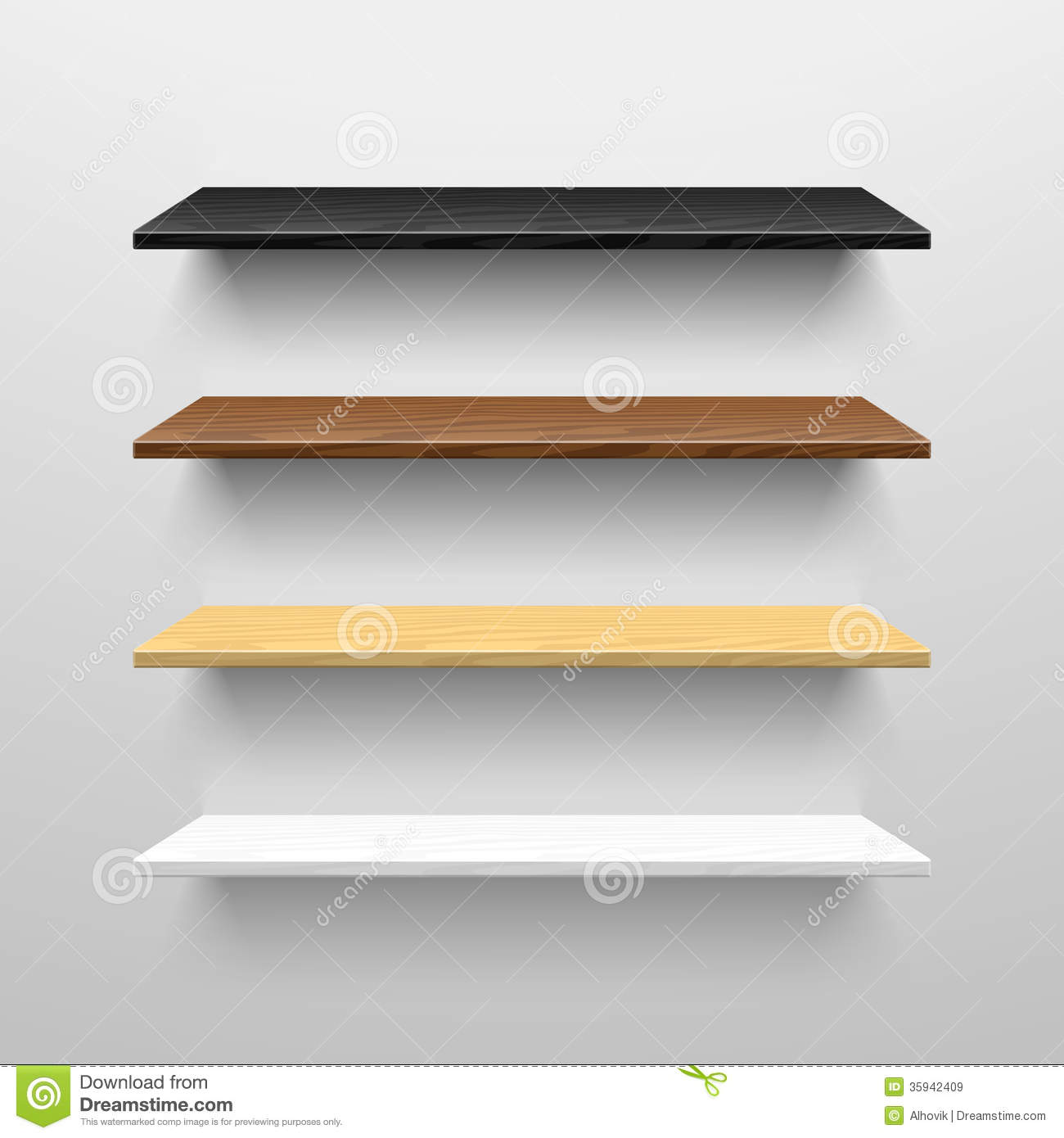 Wooden Shelves Royalty Free Stock Images - Image: 35942409