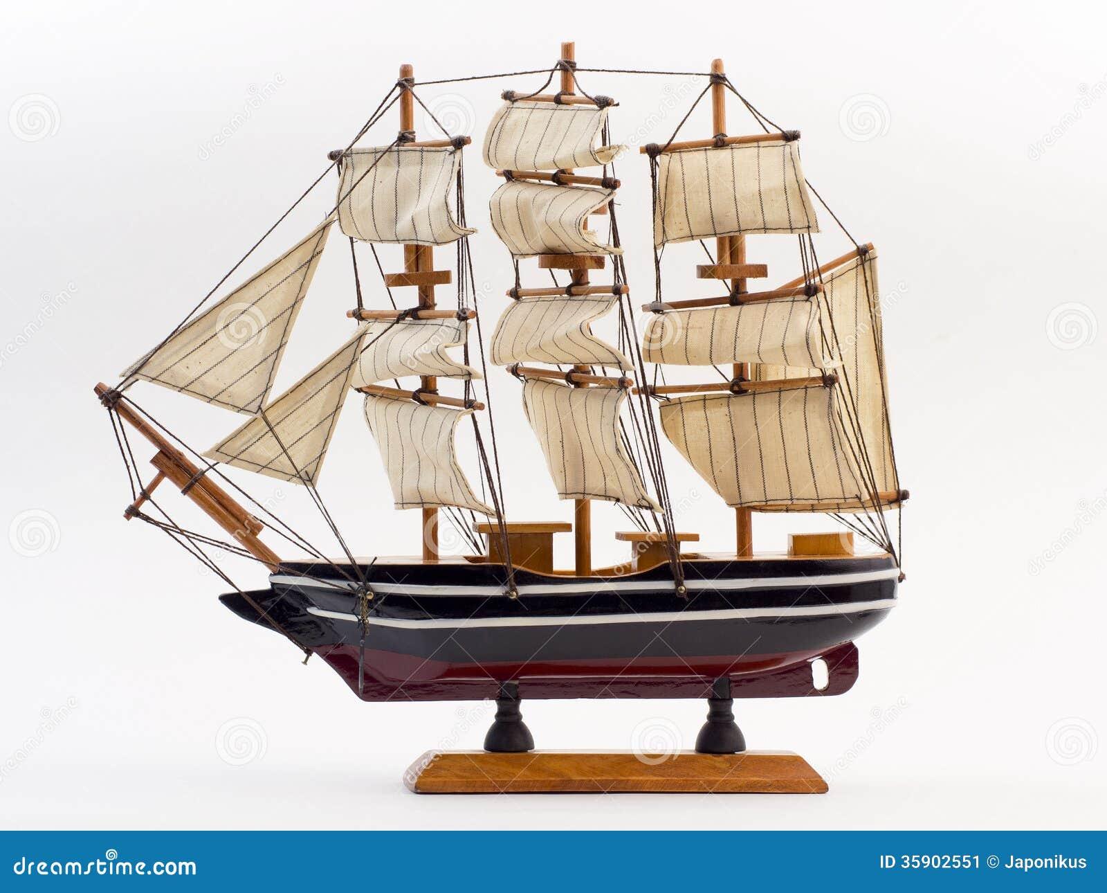 Wooden Ship Figurine Stock Image - Image: 35902551