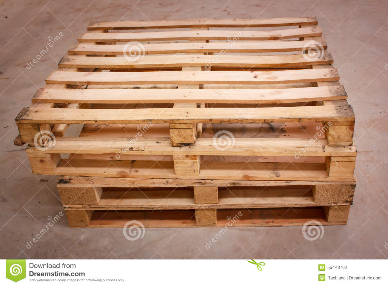 wooden shipping pallet in standard dimensions stock photo. Black Bedroom Furniture Sets. Home Design Ideas