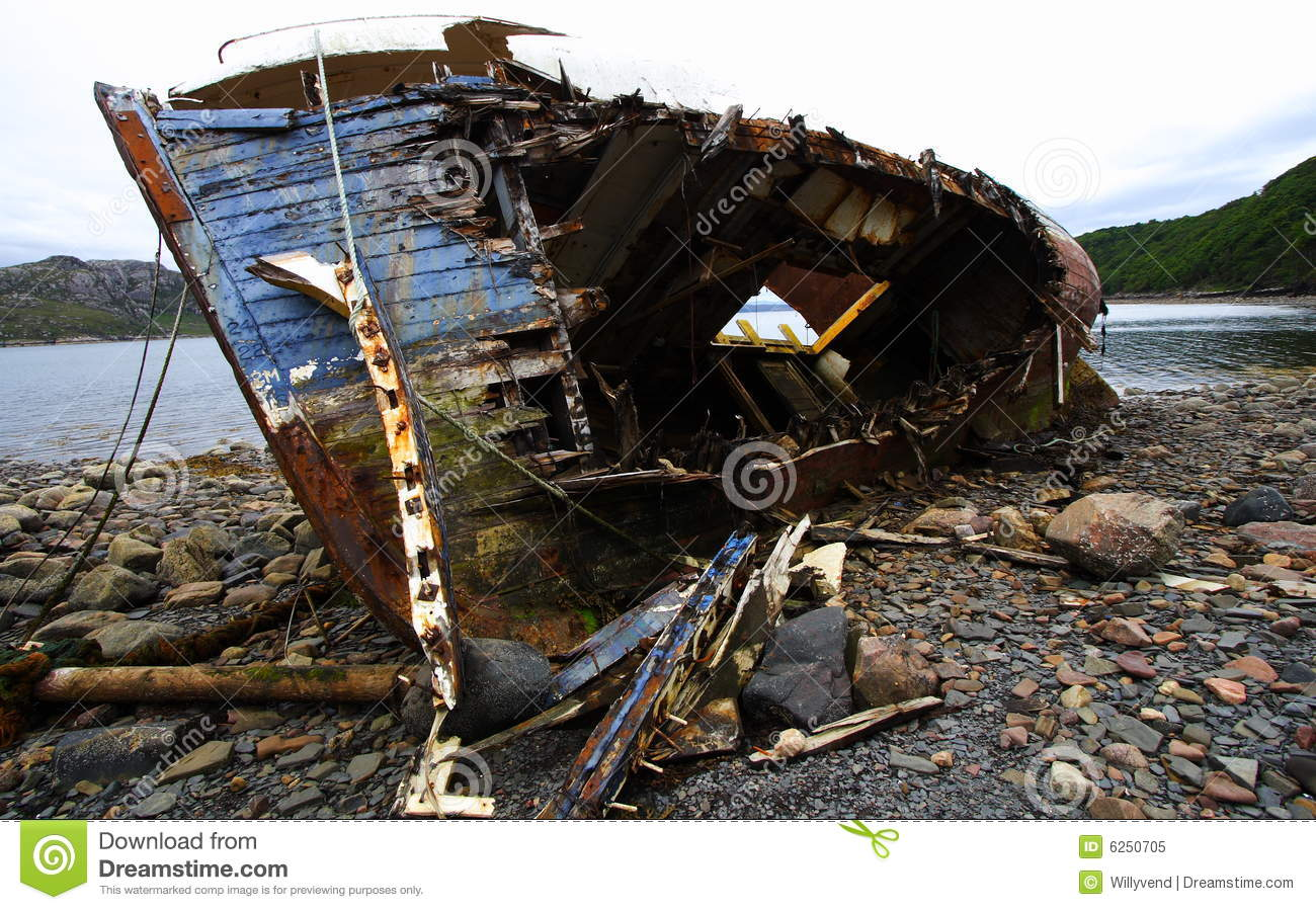 Wooden Shipwreck Royalty Free Stock Photo - Image: 6250705