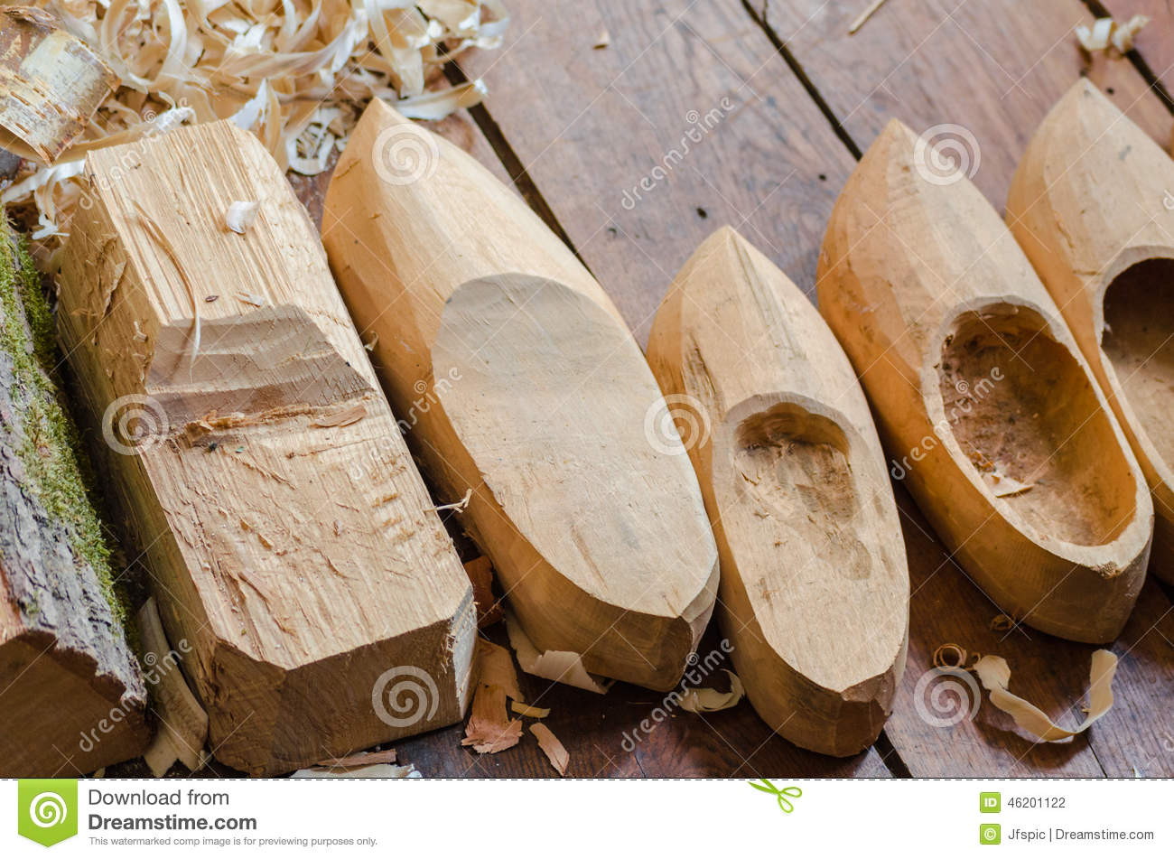 Wooden Shoes Clogs Production Stock Photo Image Of Clog