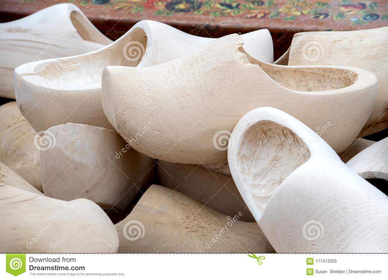 Wooden Shoes For Sale In Holland Stock Image Image Of Shoes