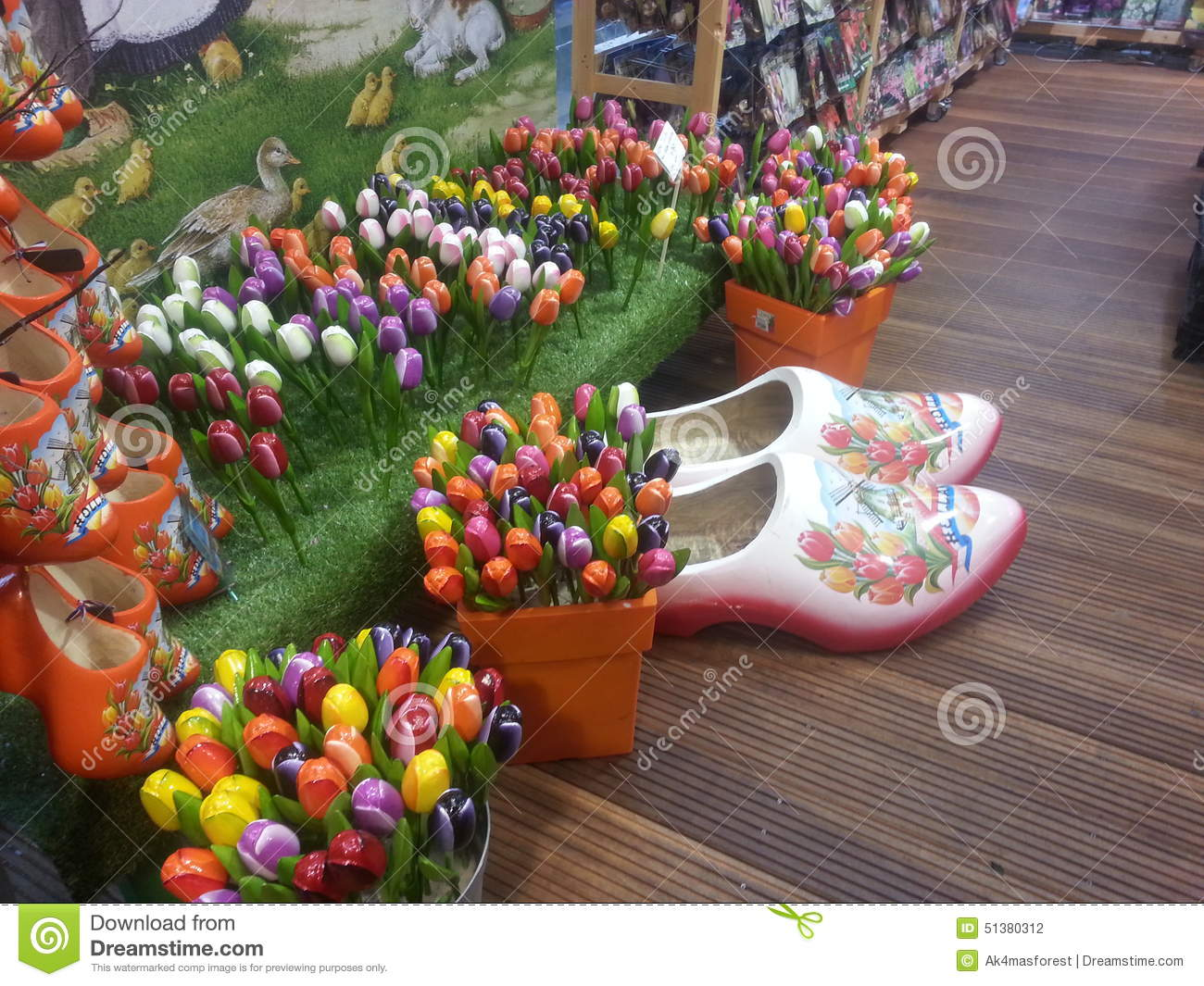 Wooden Shoes And Tulips Editorial Photography Image Of Amsterdam