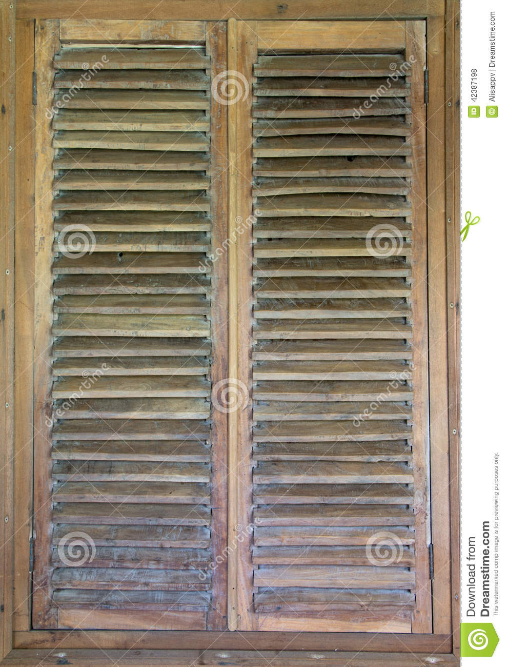 Wood Shutters Closed : Wooden shutter stock photo image