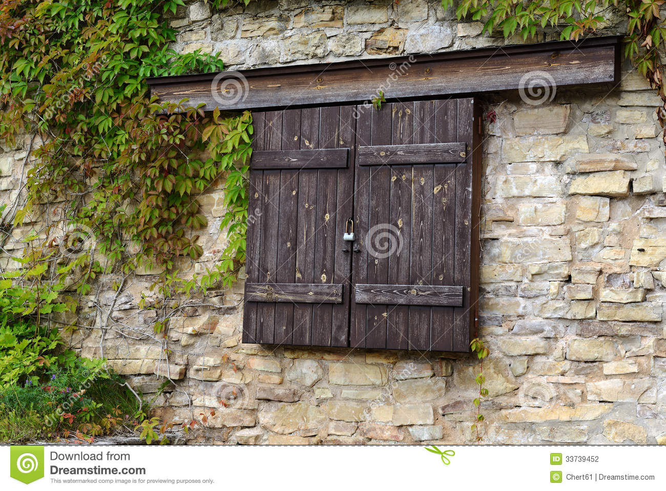 Wood Shutters Closed : Wooden shutters stock photography image