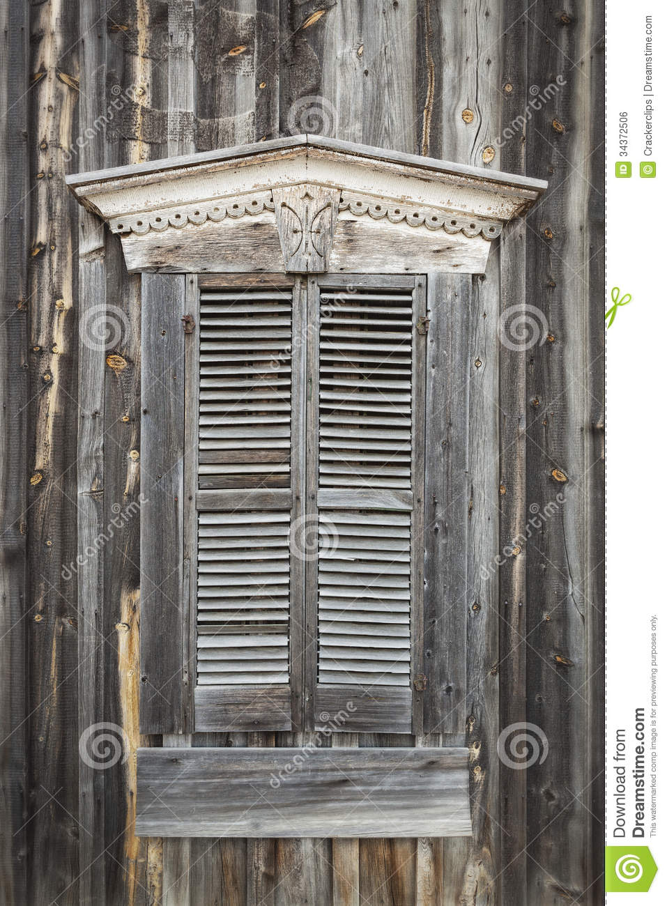 Wooden Shutters On Window Of Old Building Royalty Free