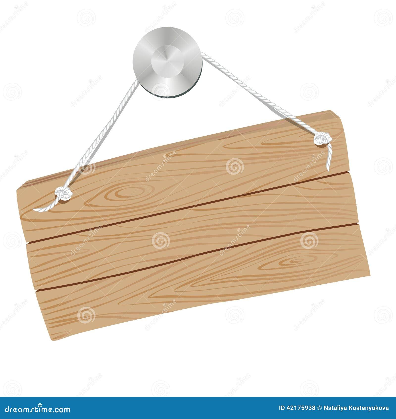 Hanging wooden sign vector