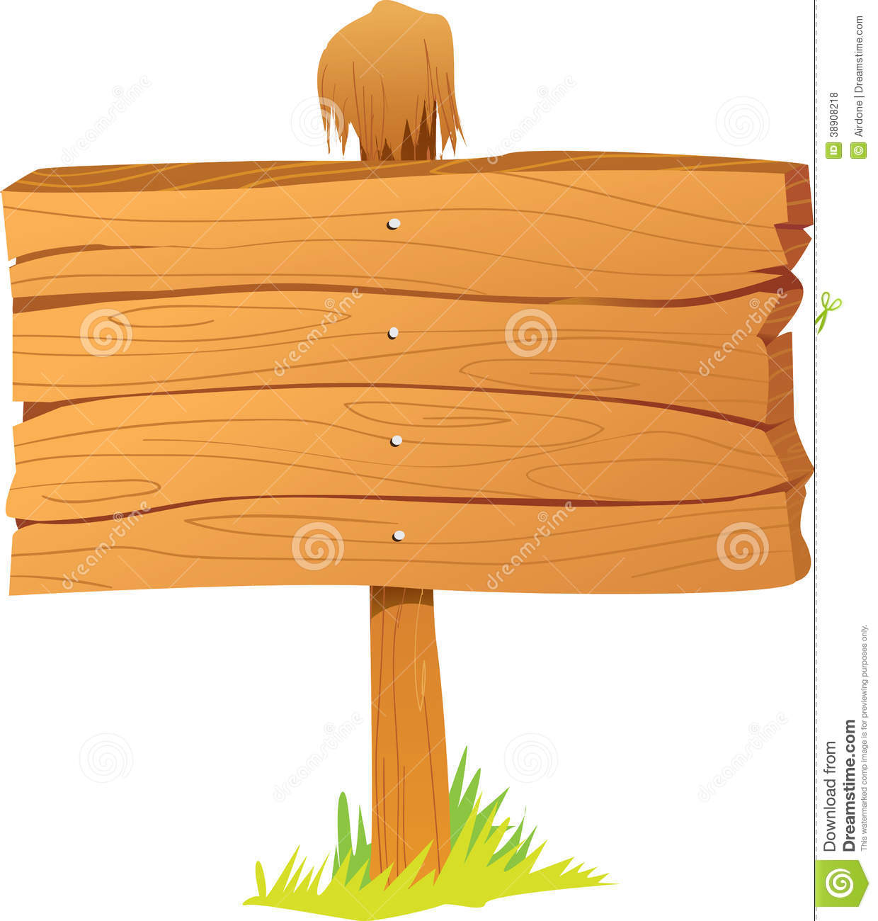 Wooden Sign Board Stock Illustration Illustration Of