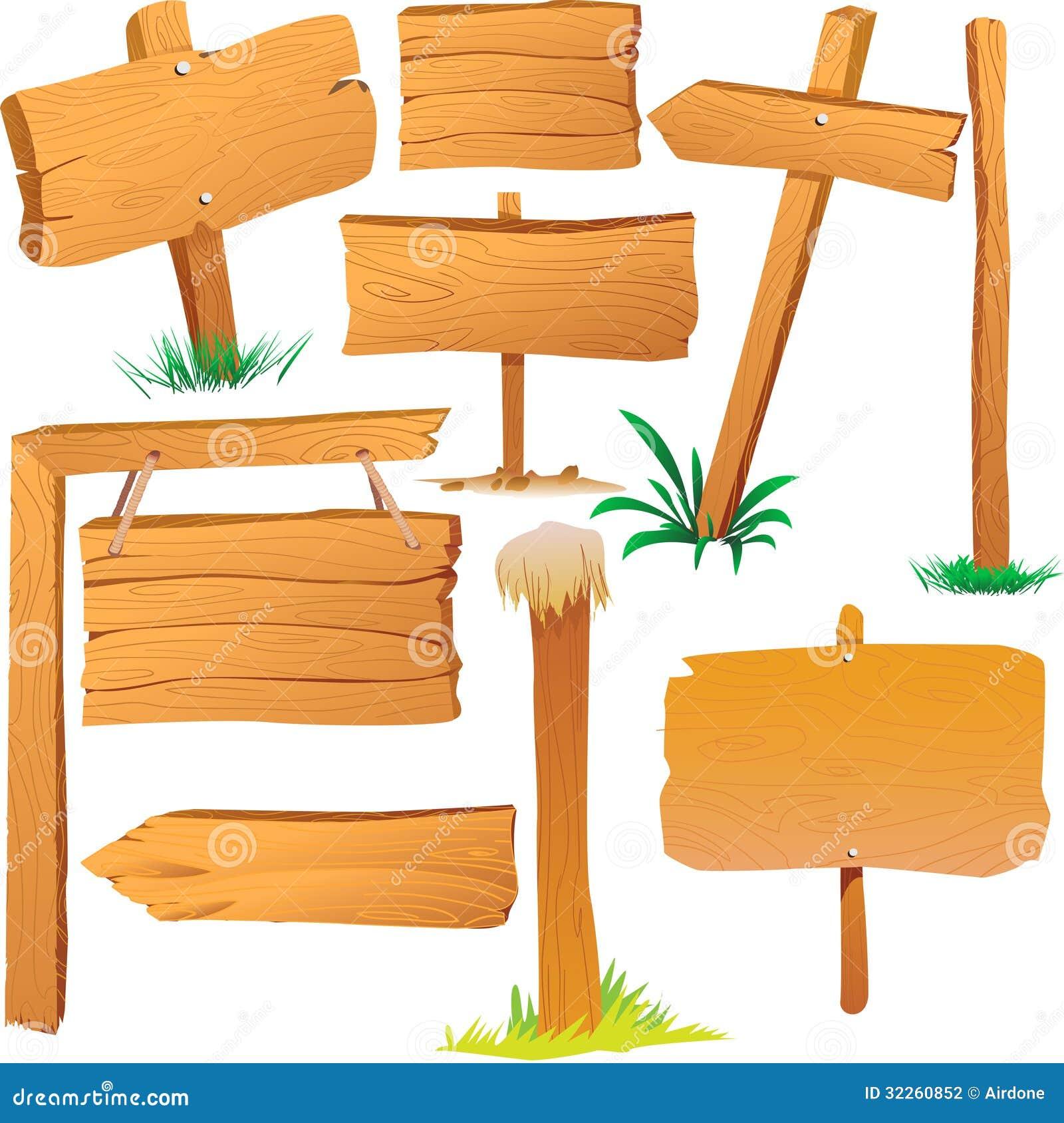 Cartoon Wood Board ~ Wooden sign boards stock vector illustration of comic