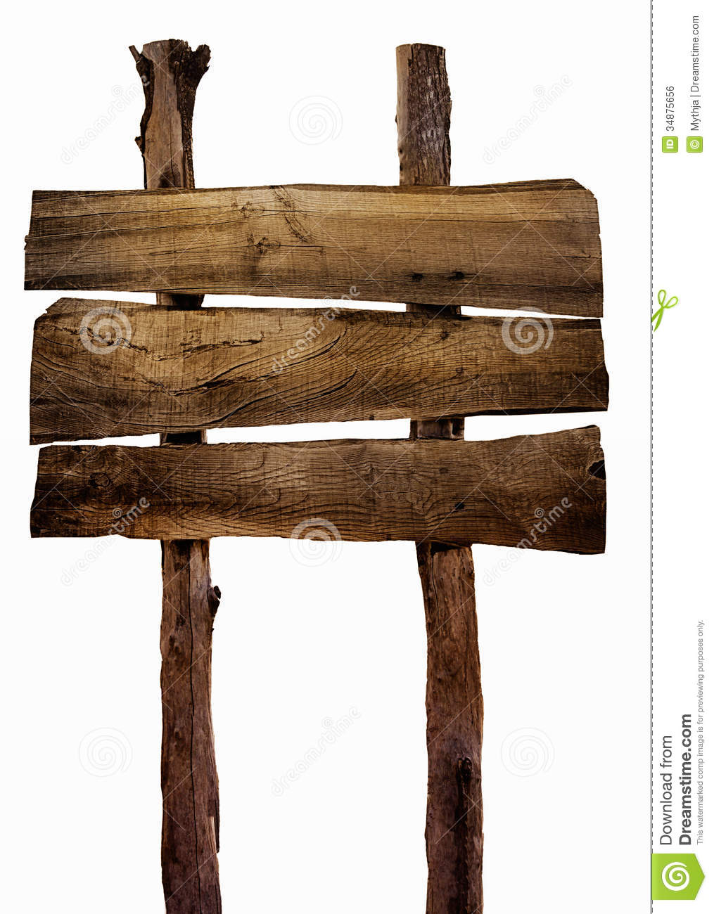 Wood Plank Sign : Wooden Sign Royalty Free Stock Image - Image: 34875656