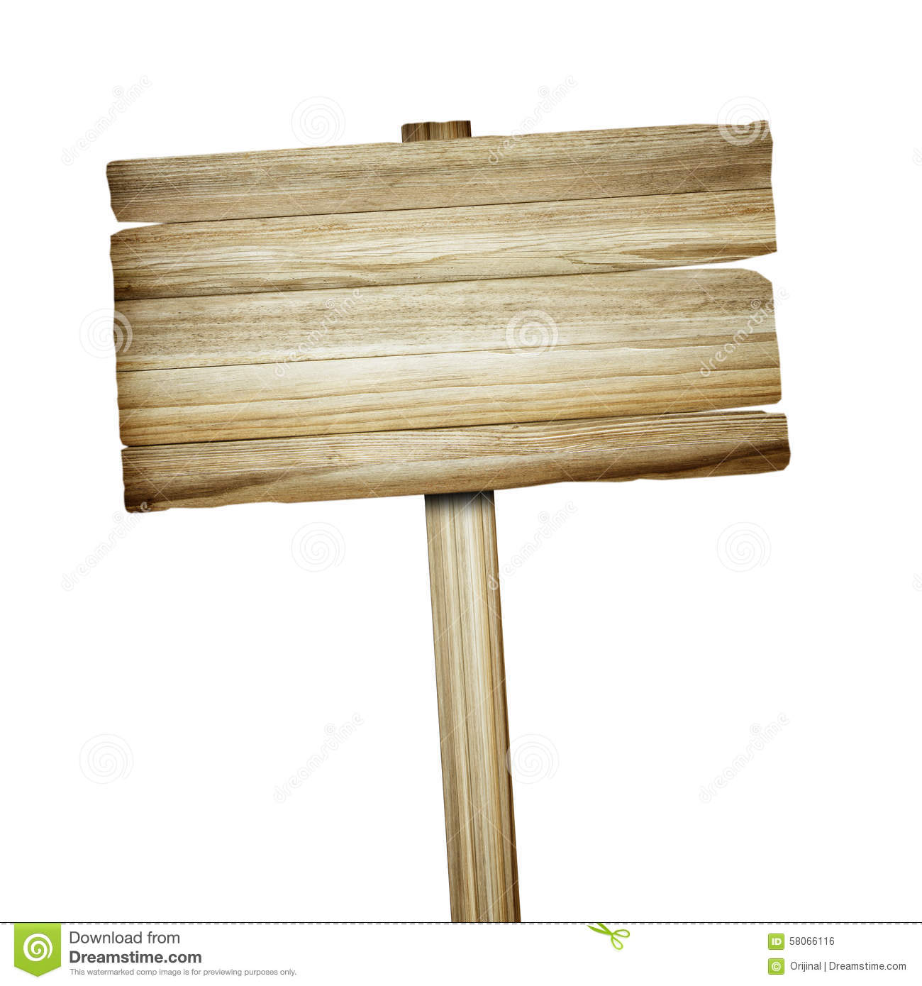Wooden Sign Isolated On White. Wood Old Planks Sign. Stock ...