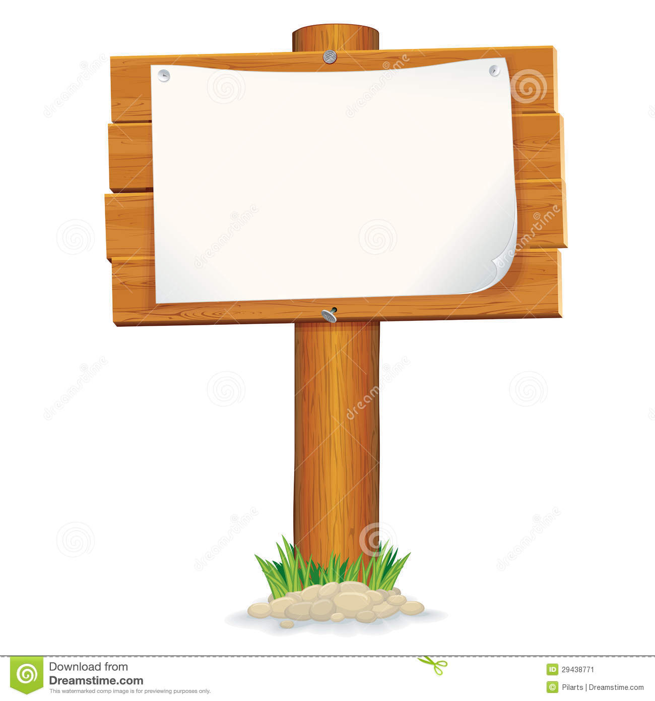 Wooden Sign With Paper Vector Graphics Stock Image Image 29438771