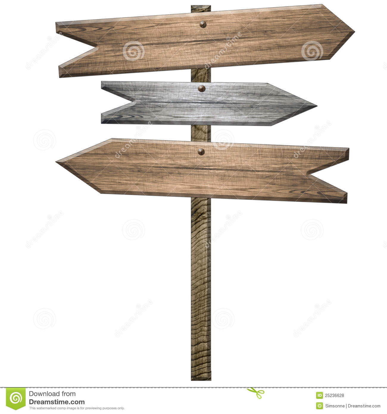 Wooden Sign Post Royalty Free Stock Photos - Image: 25236628