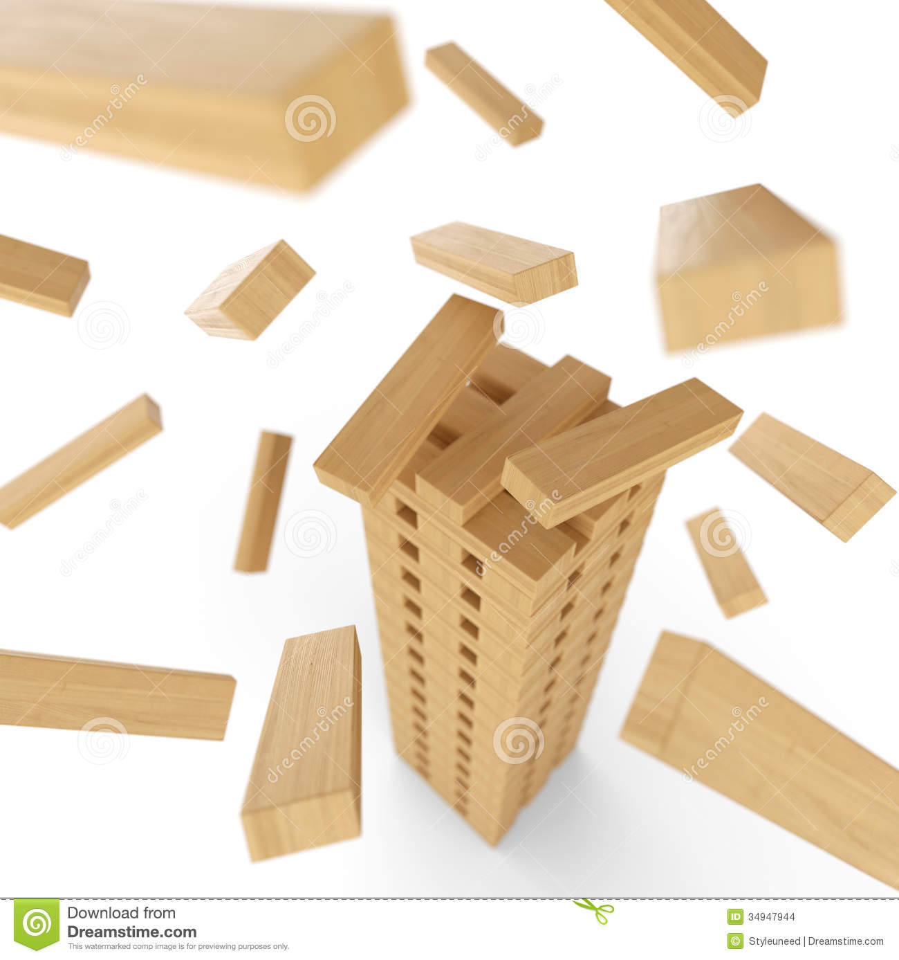 tower of wood blocks stock photo image of rise rectangular 34947944. Black Bedroom Furniture Sets. Home Design Ideas