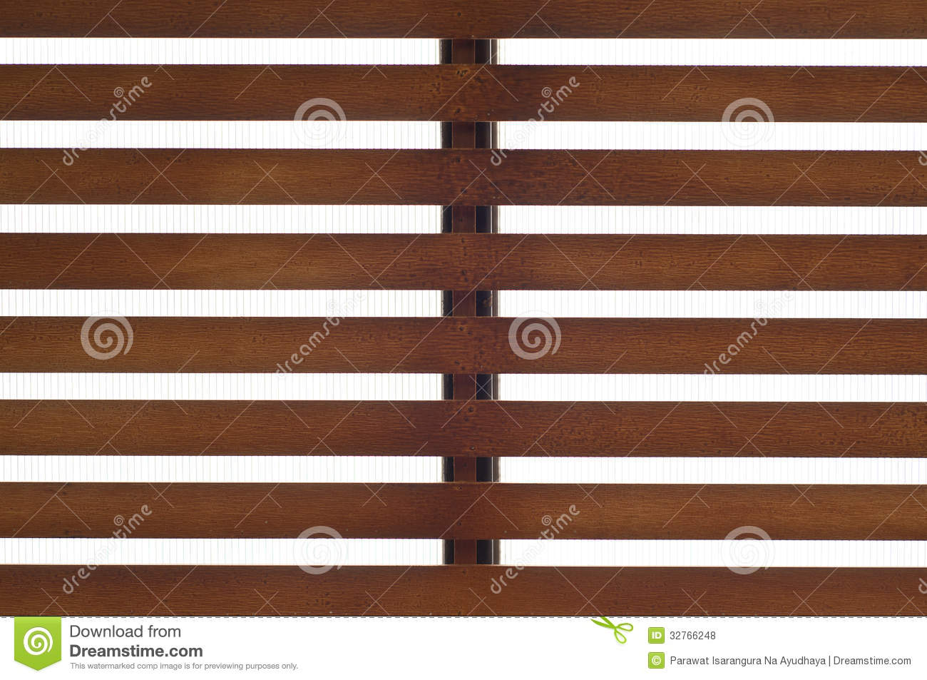 Wooden Slat Roof Royalty Free Stock Photos