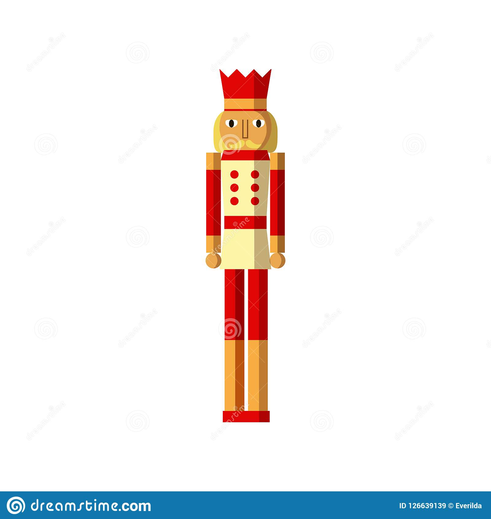 Wooden Soldiernutcracker Colorful Vintage Christmas Toys Stock