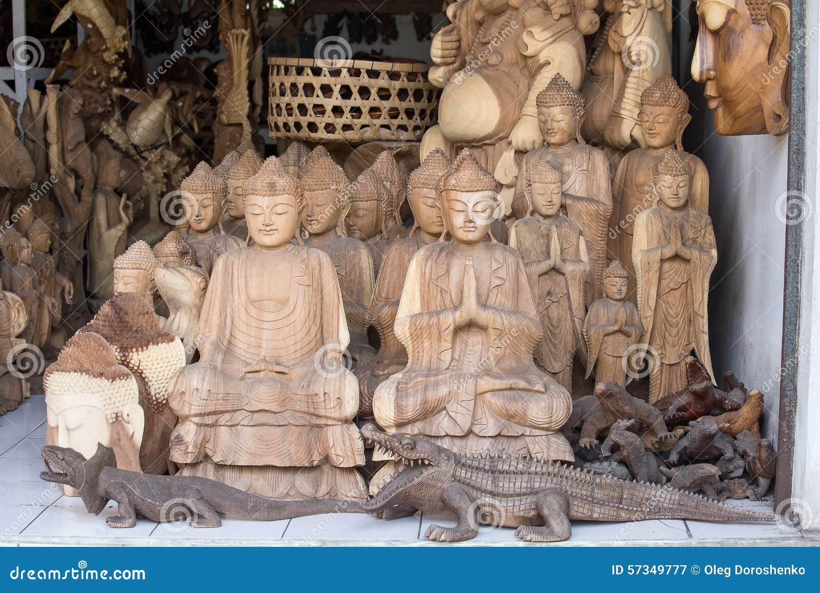 The wooden decoration in bali style editorial image - Artesania de indonesia ...