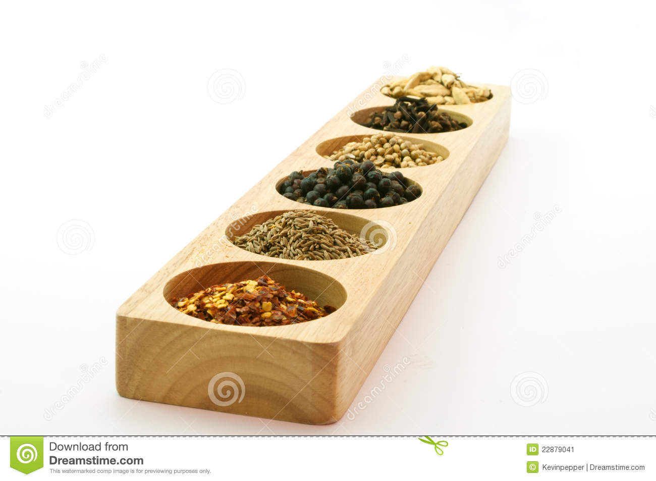 Wooden Spice Rack Wooden spice rack filled with