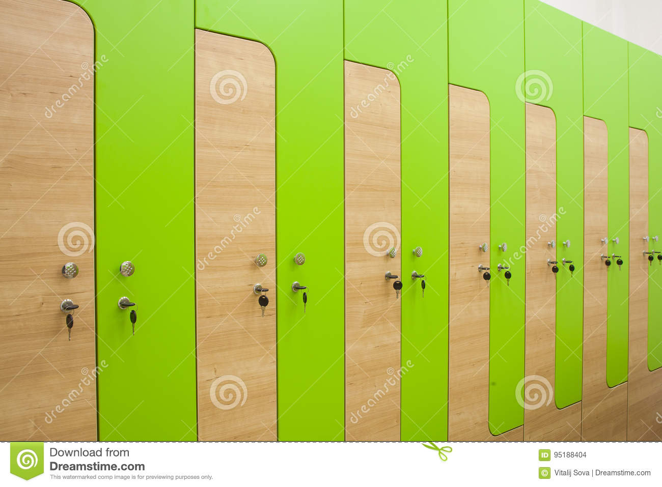 Swell Wooden Sports Wardrobe Stock Photo Image Of Bench Cabinets Machost Co Dining Chair Design Ideas Machostcouk