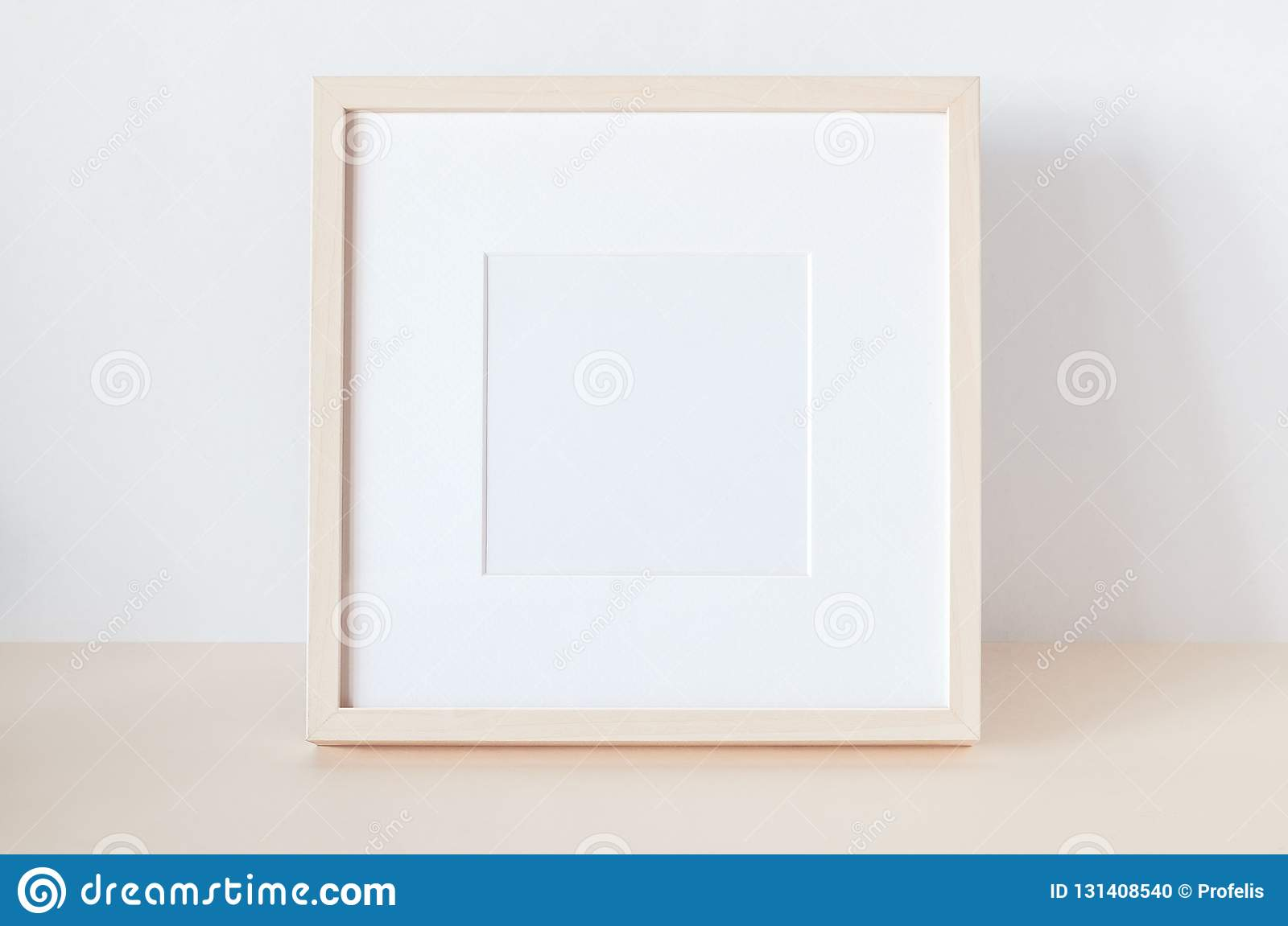 Wooden Square Frame With Poster Mockup Stock Photo Image Of Mock