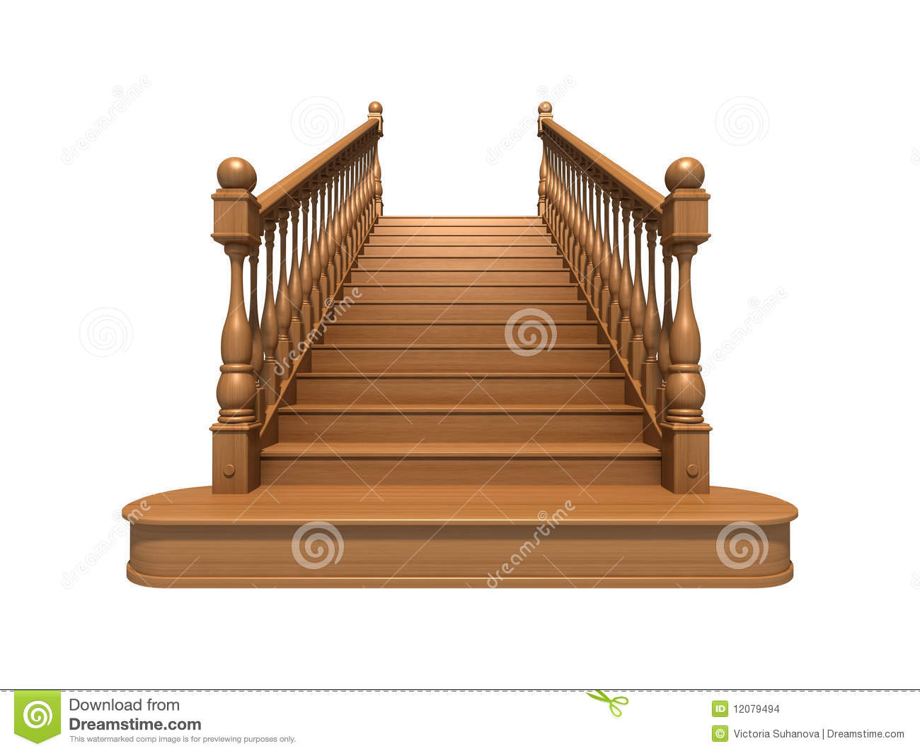 Wooden Stairs Stock Images Image 12079494