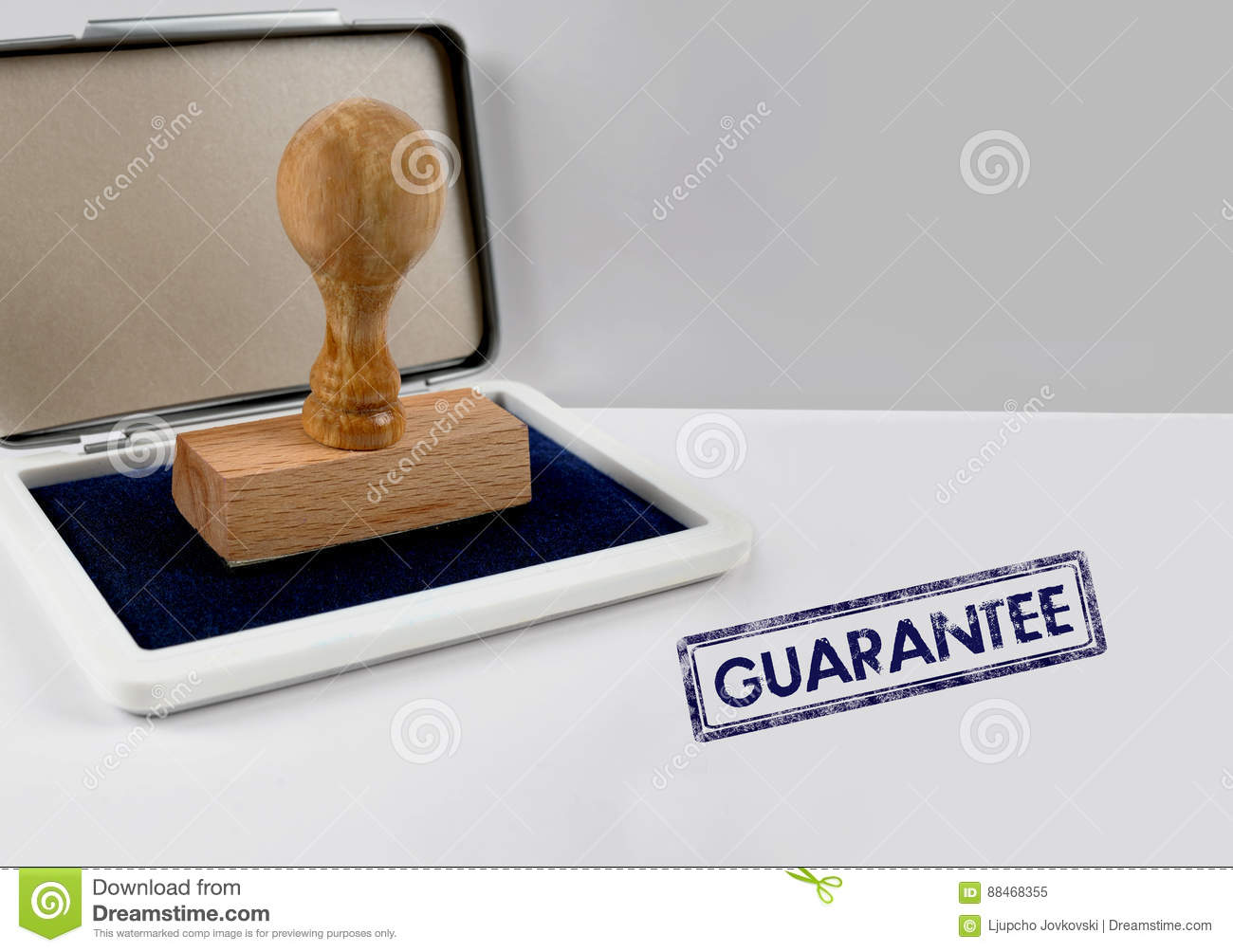 Wooden stamp GUARANTEE