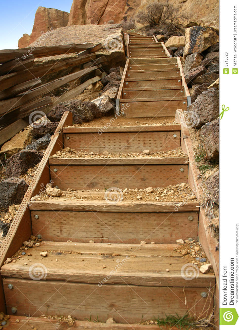 Wooden Steps Stock Photo Image Of Many Long Steep
