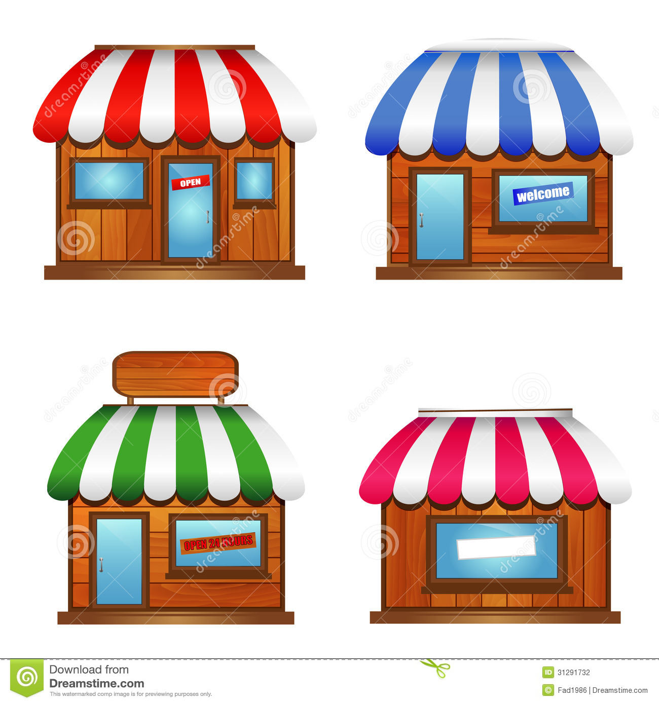 Wooden Storefront Icon Stock Photography Image 31291732