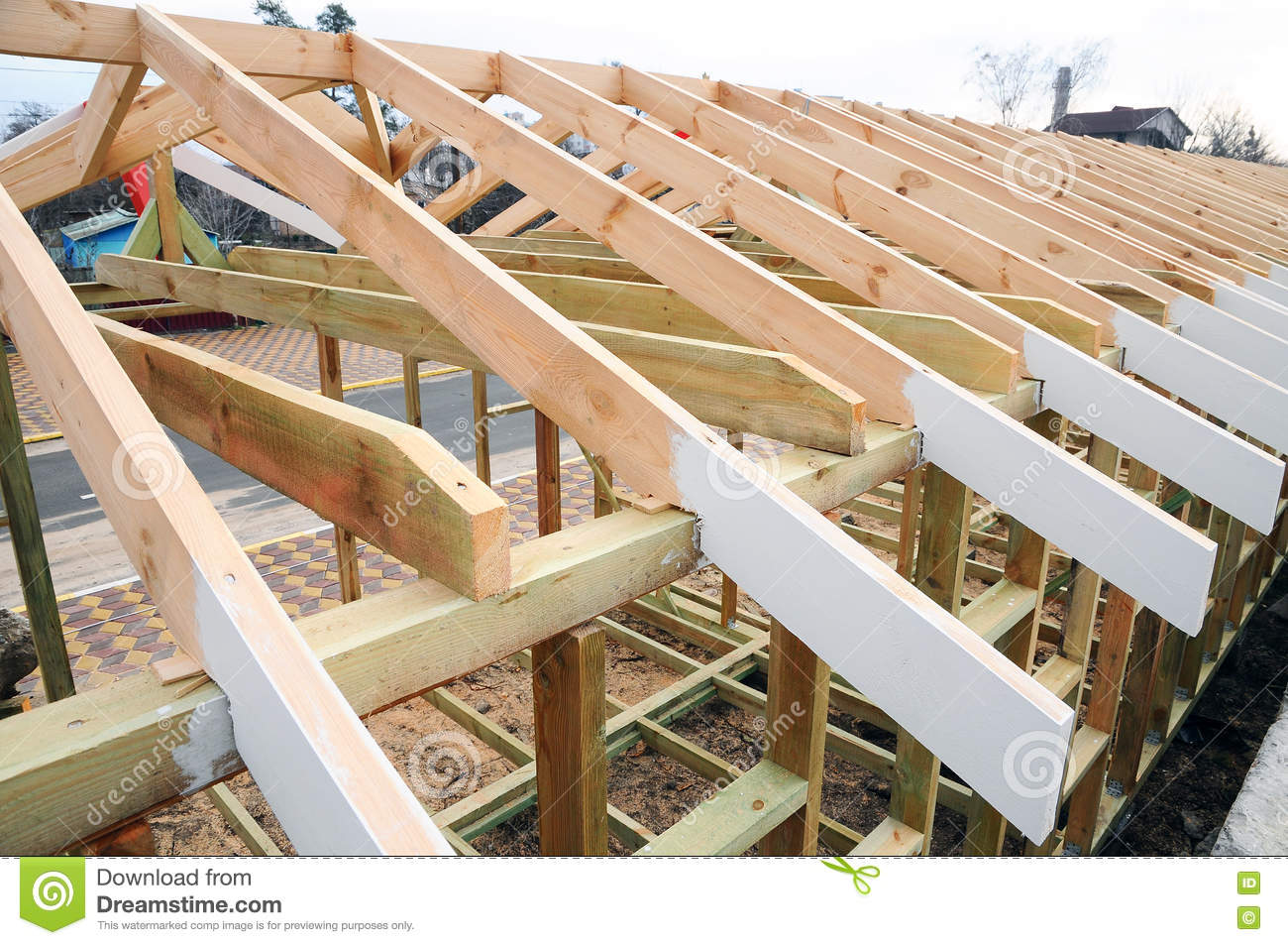 Roof frame roof framing 101 sc 1 st extreme how to for House roof construction