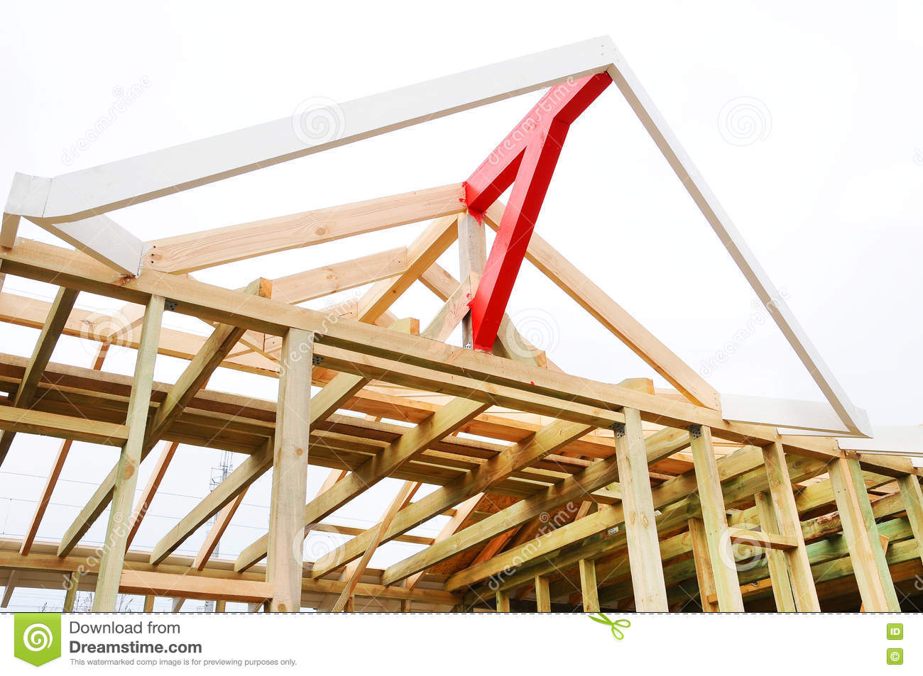 The wooden structure of the building roofing construction wooden roof frame house construction - Build wood roof abcs roof framing ...
