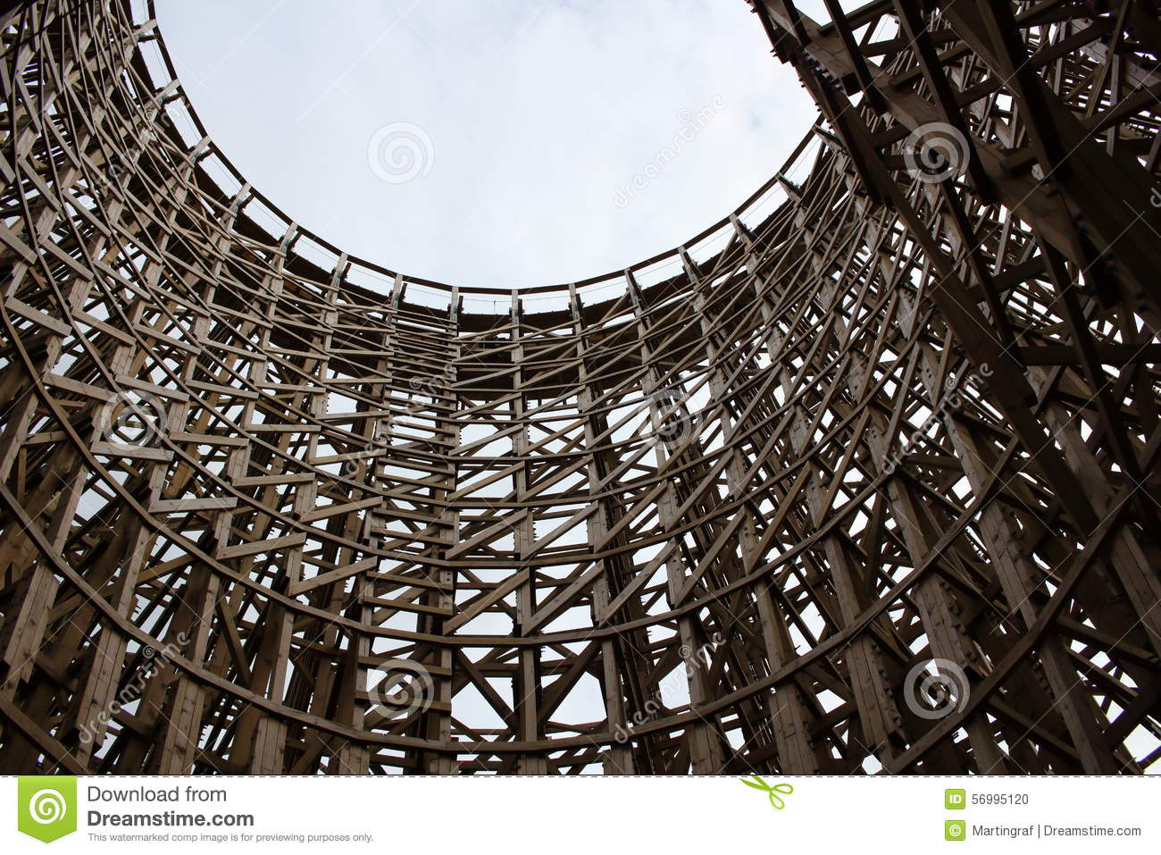Wooden roller coaster structure stock photo image 56995120 for Structure photography